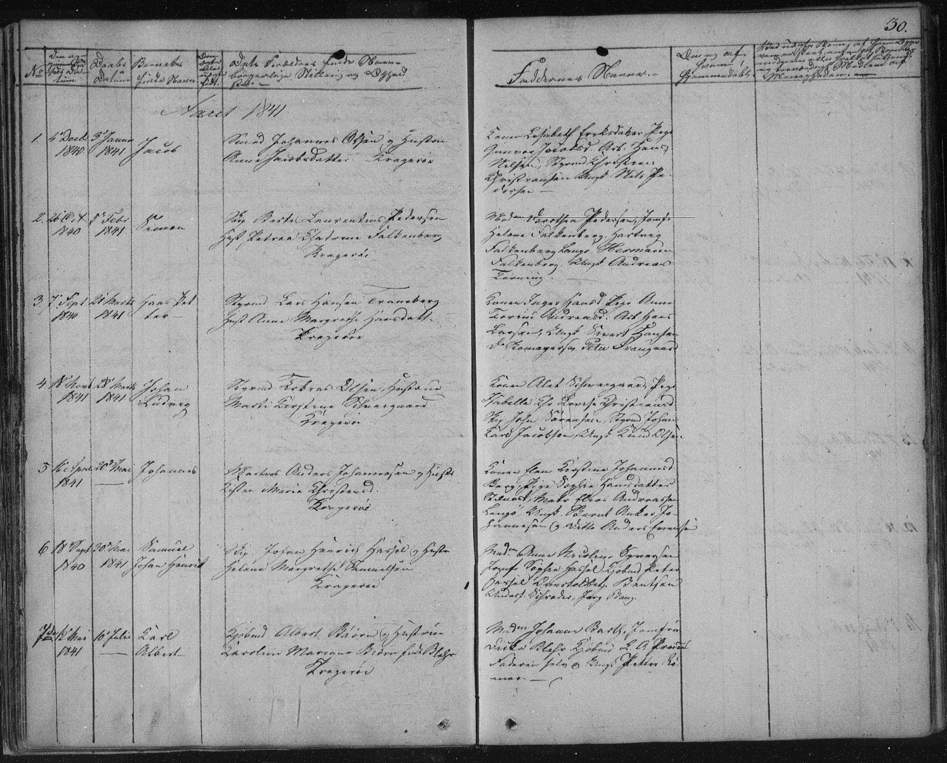 SAKO, Kragerø kirkebøker, F/Fa/L0005: Ministerialbok nr. 5, 1832-1847, s. 30