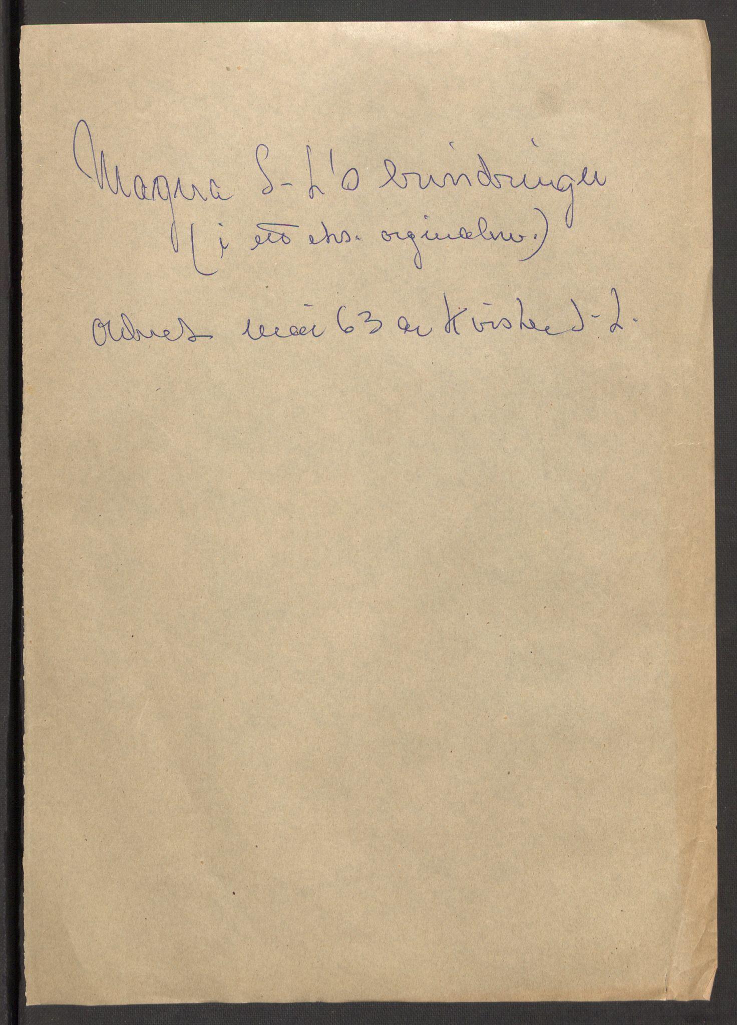 RA, Sinding-Larsen, Magna*, 1946, s. 2