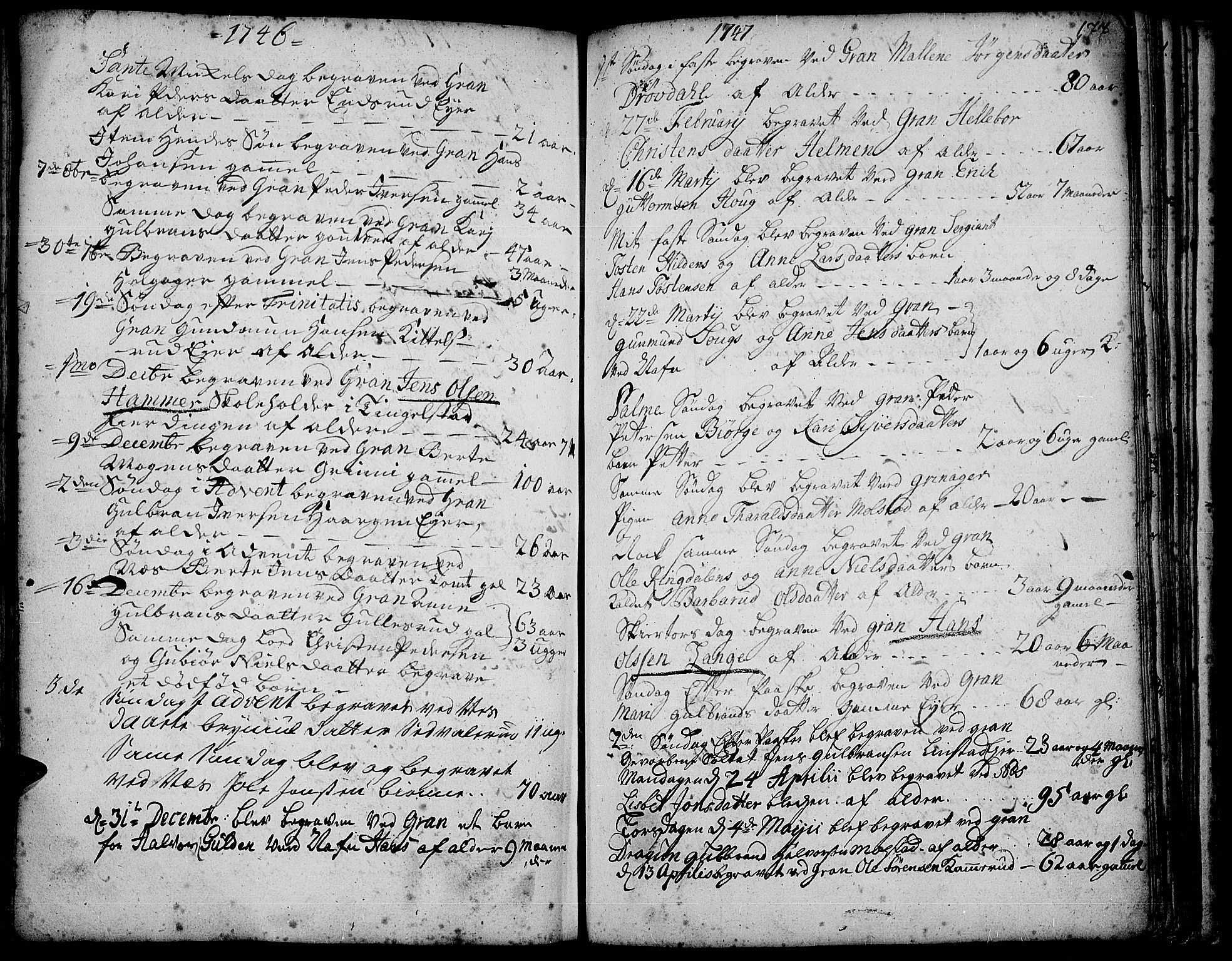 SAH, Gran prestekontor, Ministerialbok nr. 3, 1745-1758, s. 177