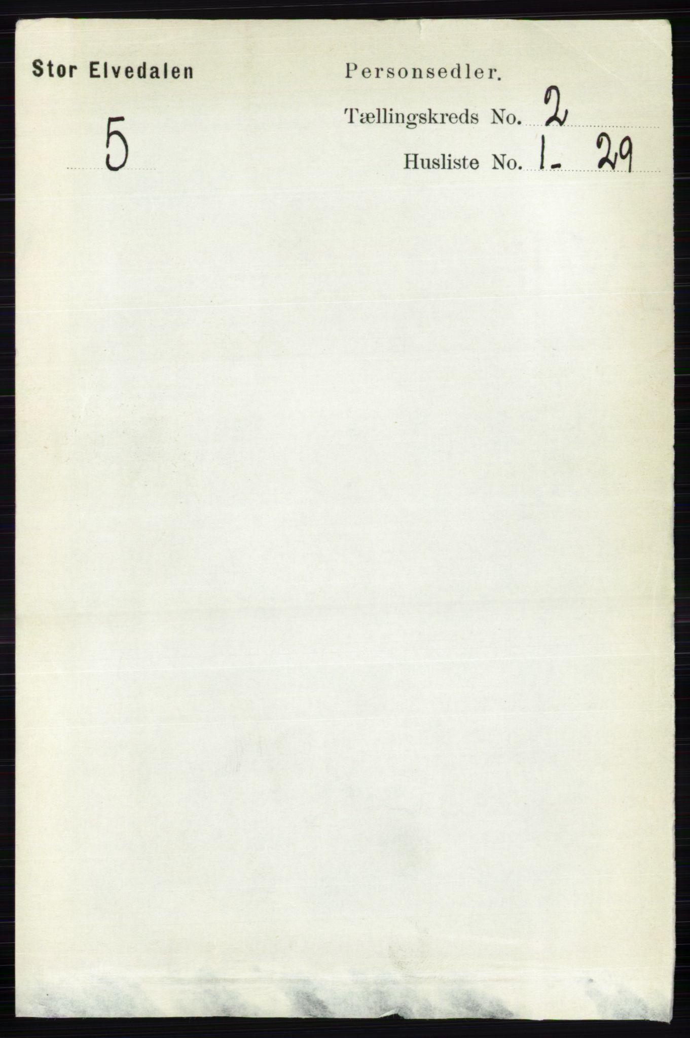 RA, Folketelling 1891 for 0430 Stor-Elvdal herred, 1891, s. 384