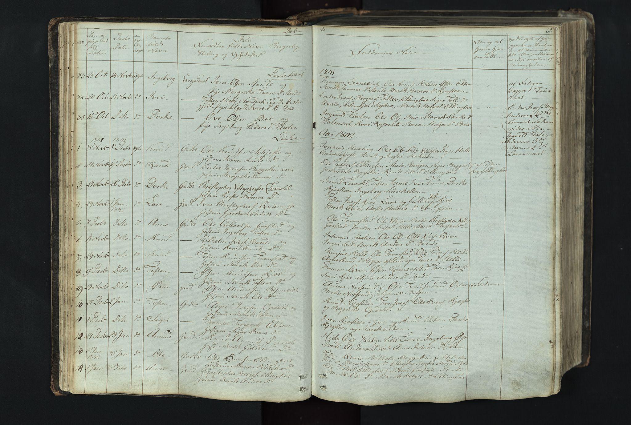 SAH, Vang prestekontor, Valdres, Klokkerbok nr. 4, 1835-1892, s. 32