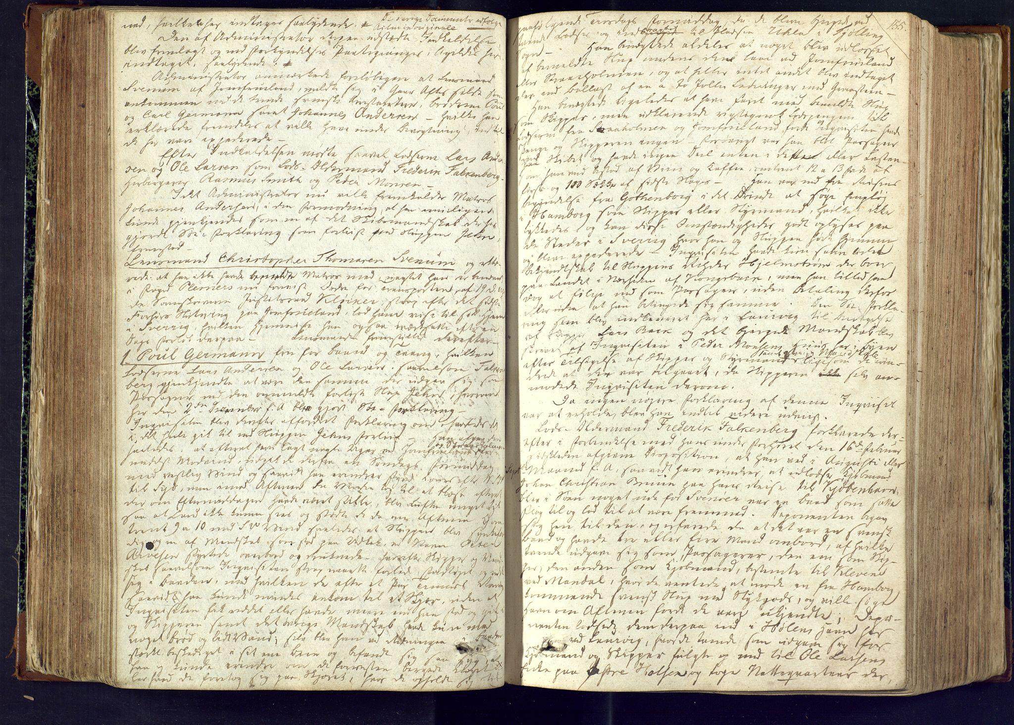 SAKO, Larvik sorenskriveri, F/Fc/L0001: Ekstrarettsprotokoll, 1817-1822, s. 155