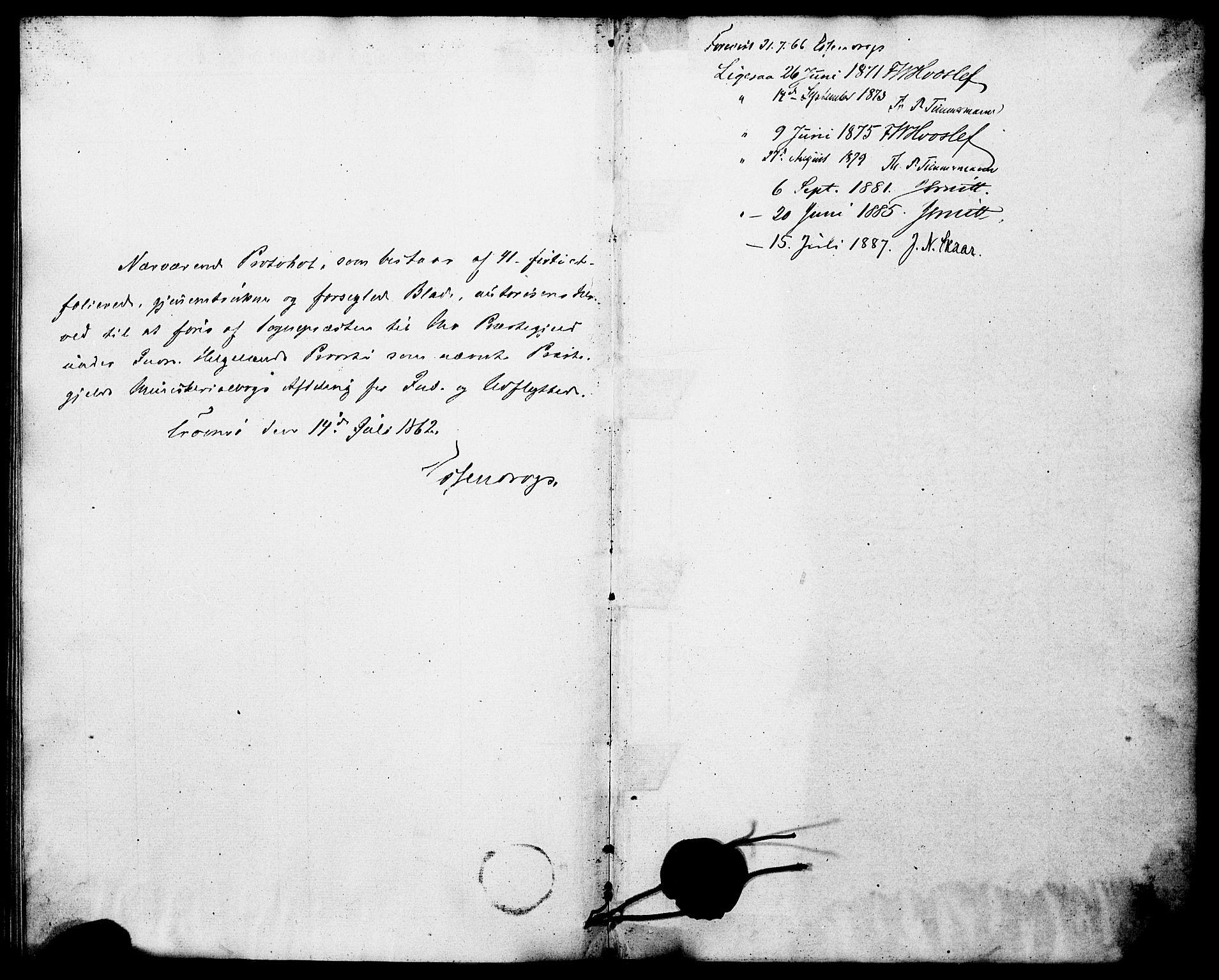SAT, Ministerialprotokoller, klokkerbøker og fødselsregistre - Nordland, 827/L0398: Ministerialbok nr. 827A10, 1866-1886