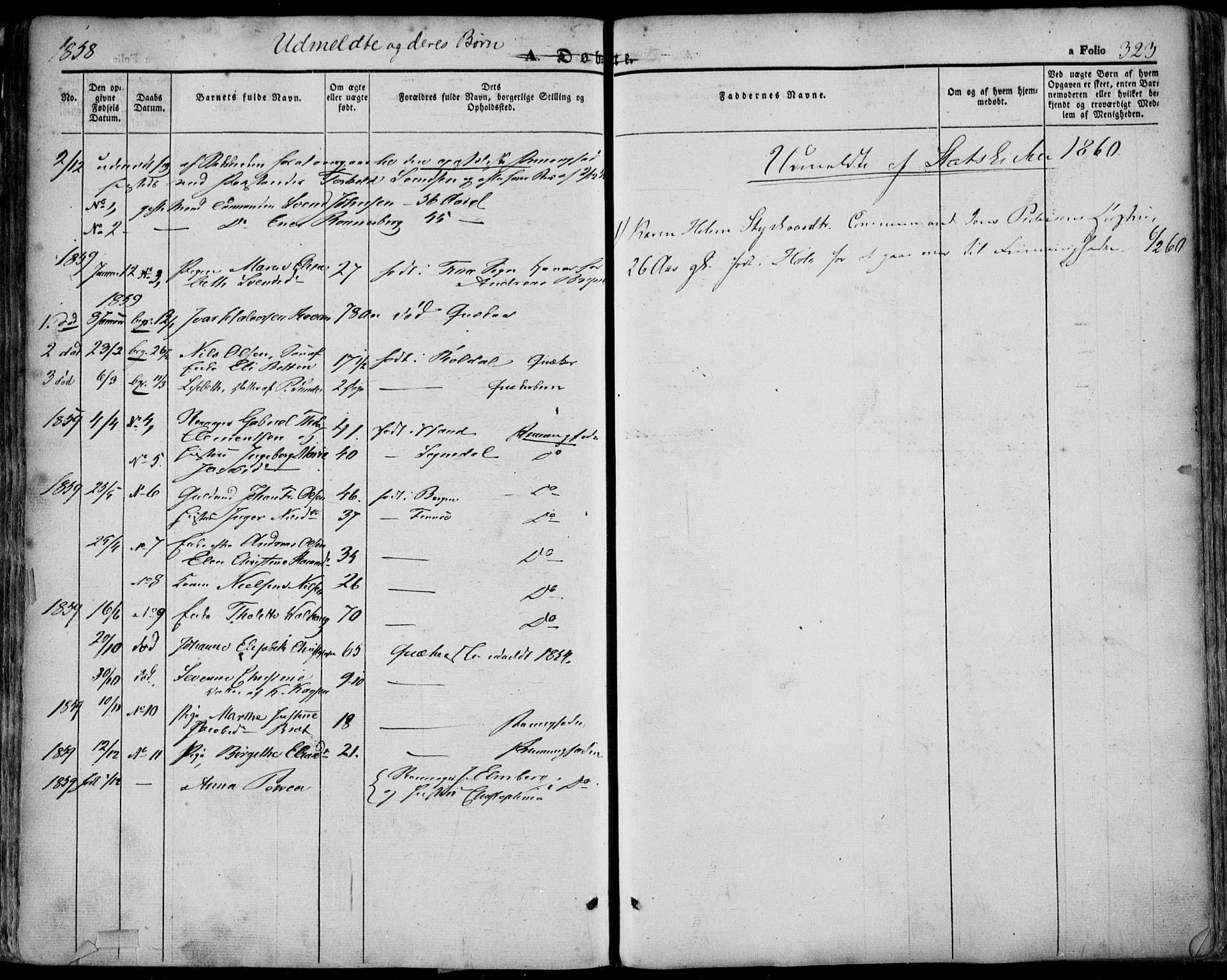 SAST, Domkirken sokneprestkontor, 30/30BA/L0016: Ministerialbok nr. A 15, 1844-1854, s. 323