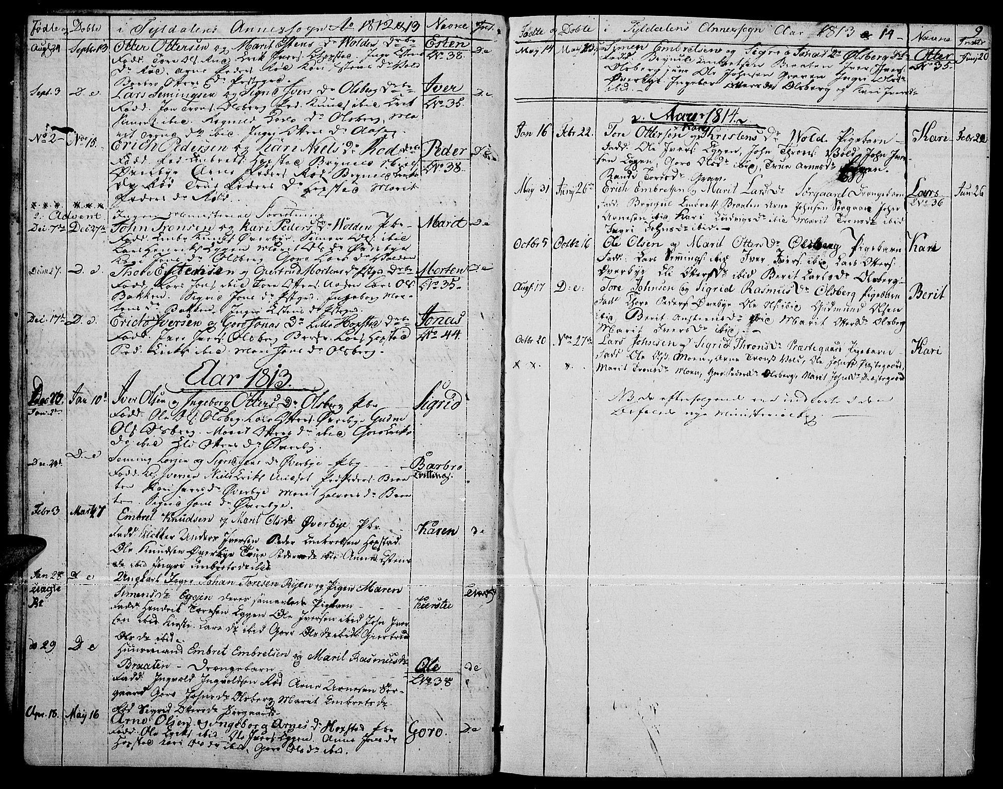 SAH, Tynset prestekontor, Ministerialbok nr. 17, 1801-1814, s. 9