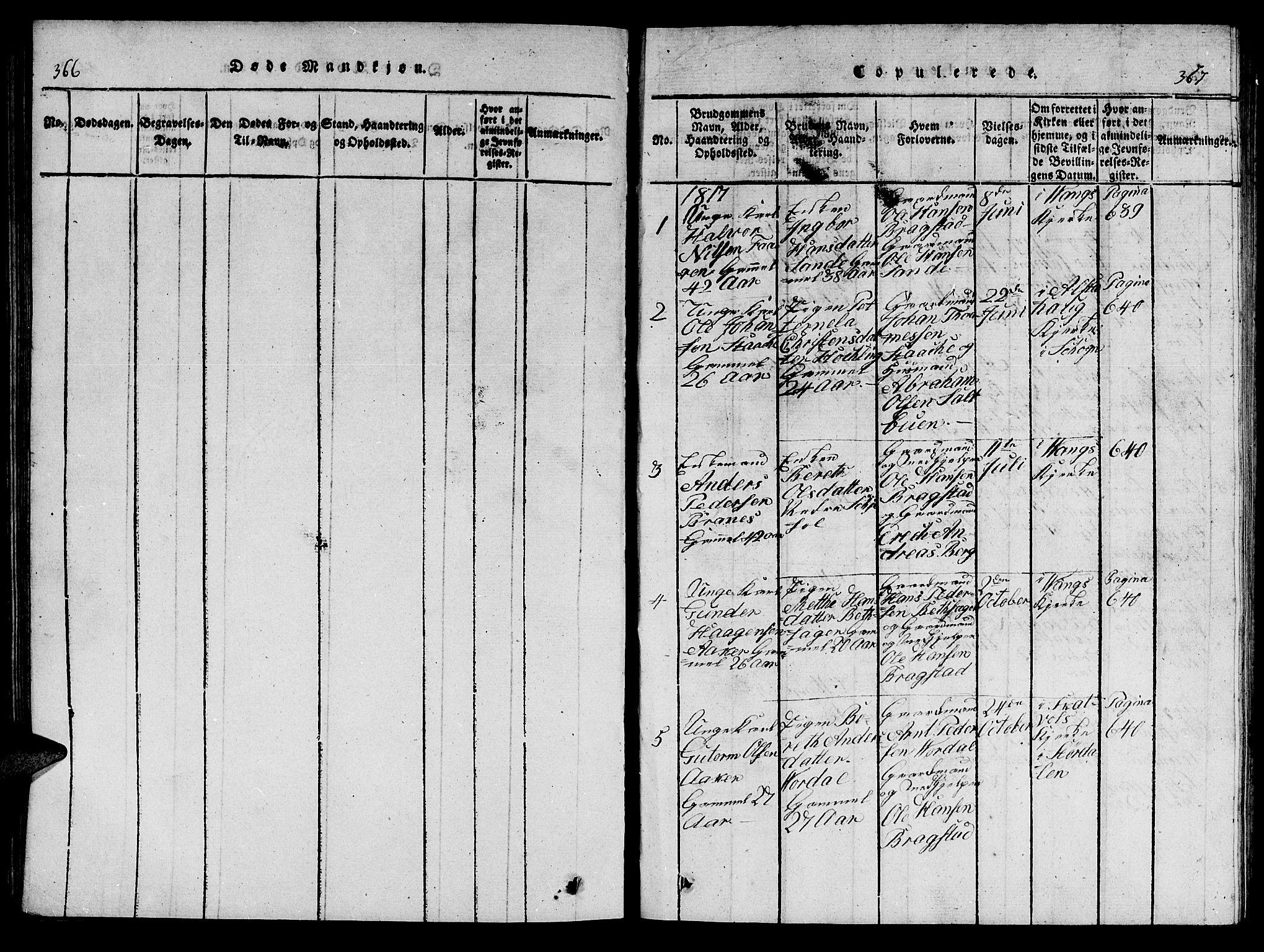 SAT, Ministerialprotokoller, klokkerbøker og fødselsregistre - Nord-Trøndelag, 714/L0132: Klokkerbok nr. 714C01, 1817-1824, s. 366-367