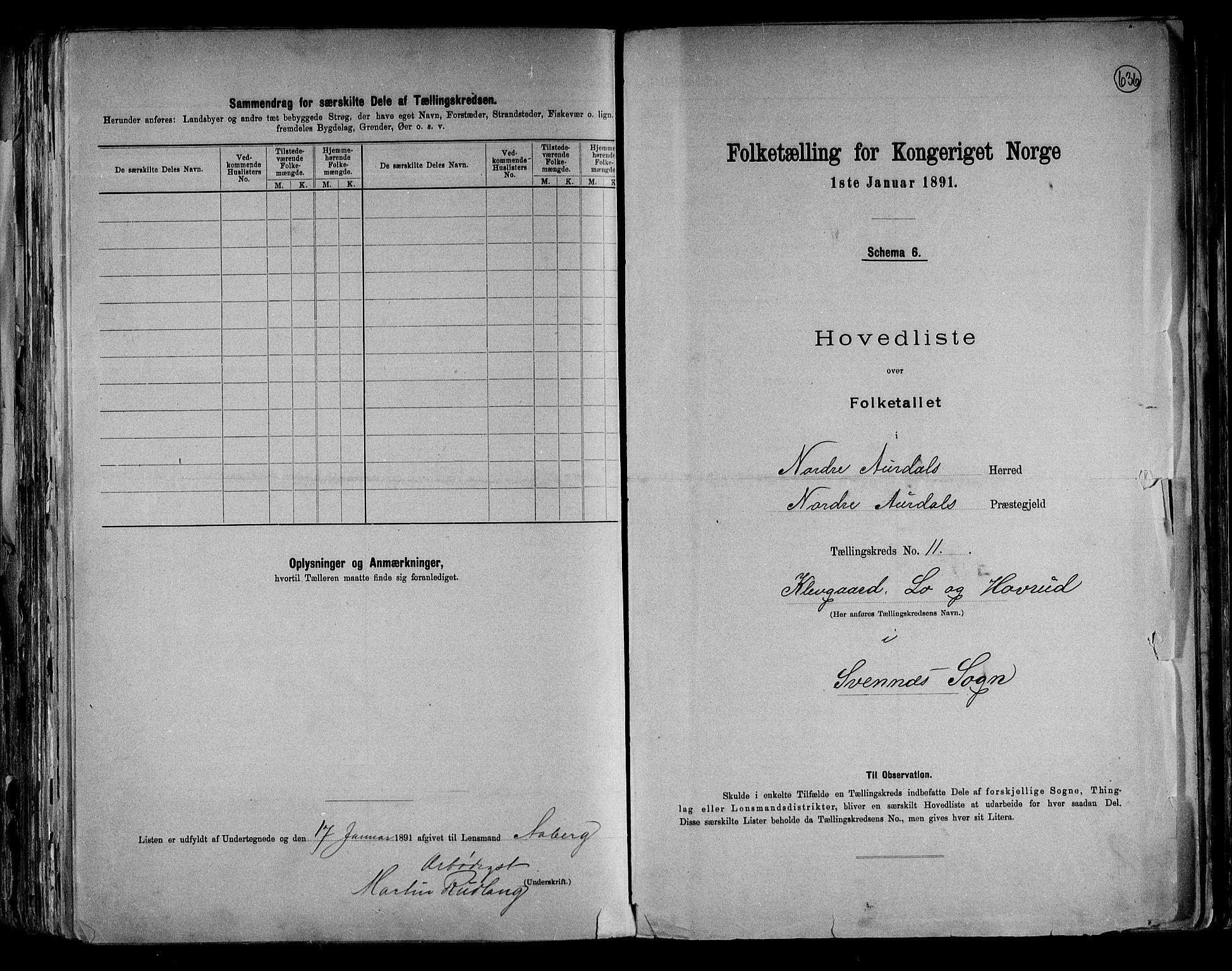 RA, Folketelling 1891 for 0542 Nord-Aurdal herred, 1891, s. 31
