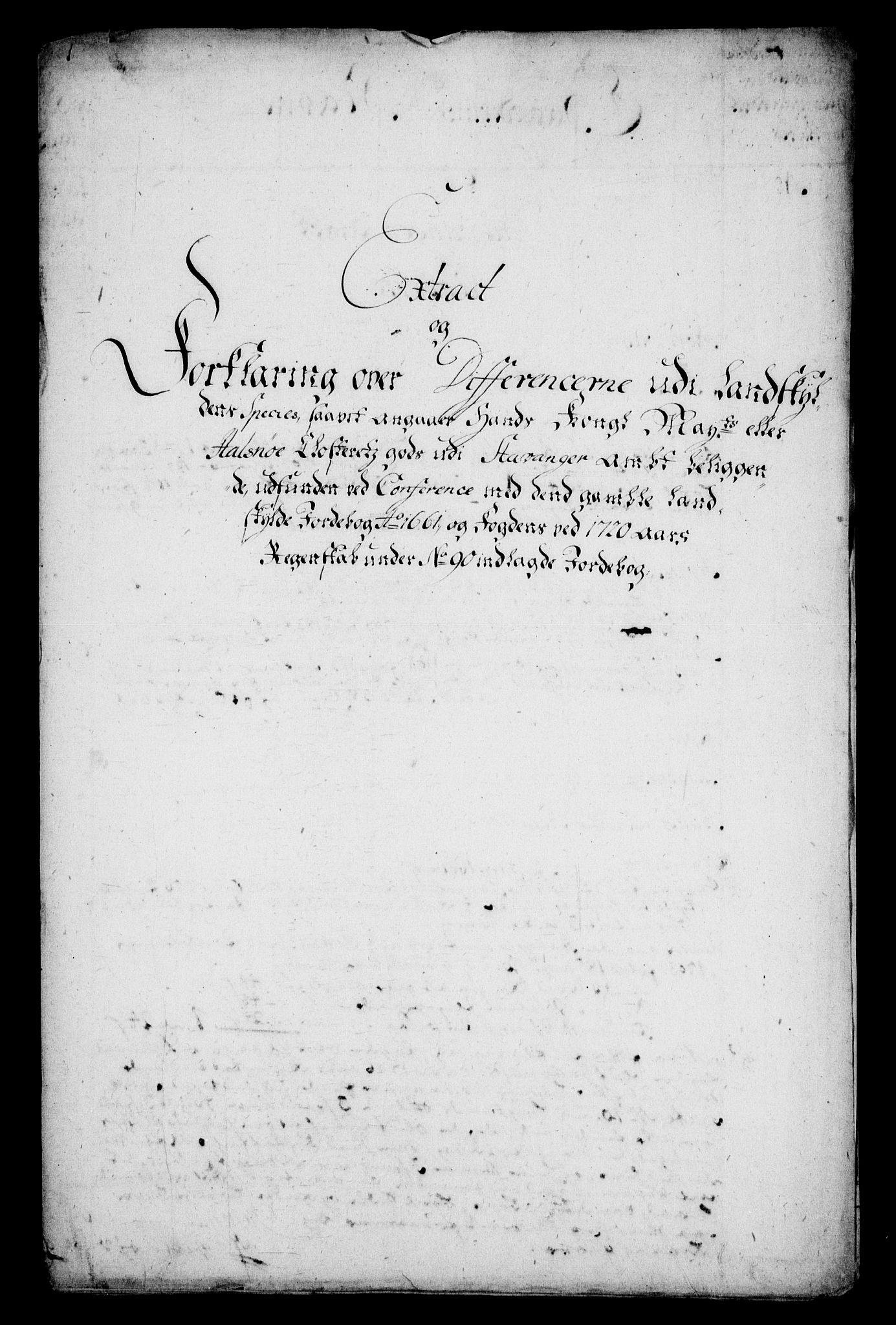 RA, Rentekammeret inntil 1814, Realistisk ordnet avdeling, On/L0005: [Jj 6]: Forskjellige dokumenter om Halsnøy klosters gods, 1697-1770, s. 389