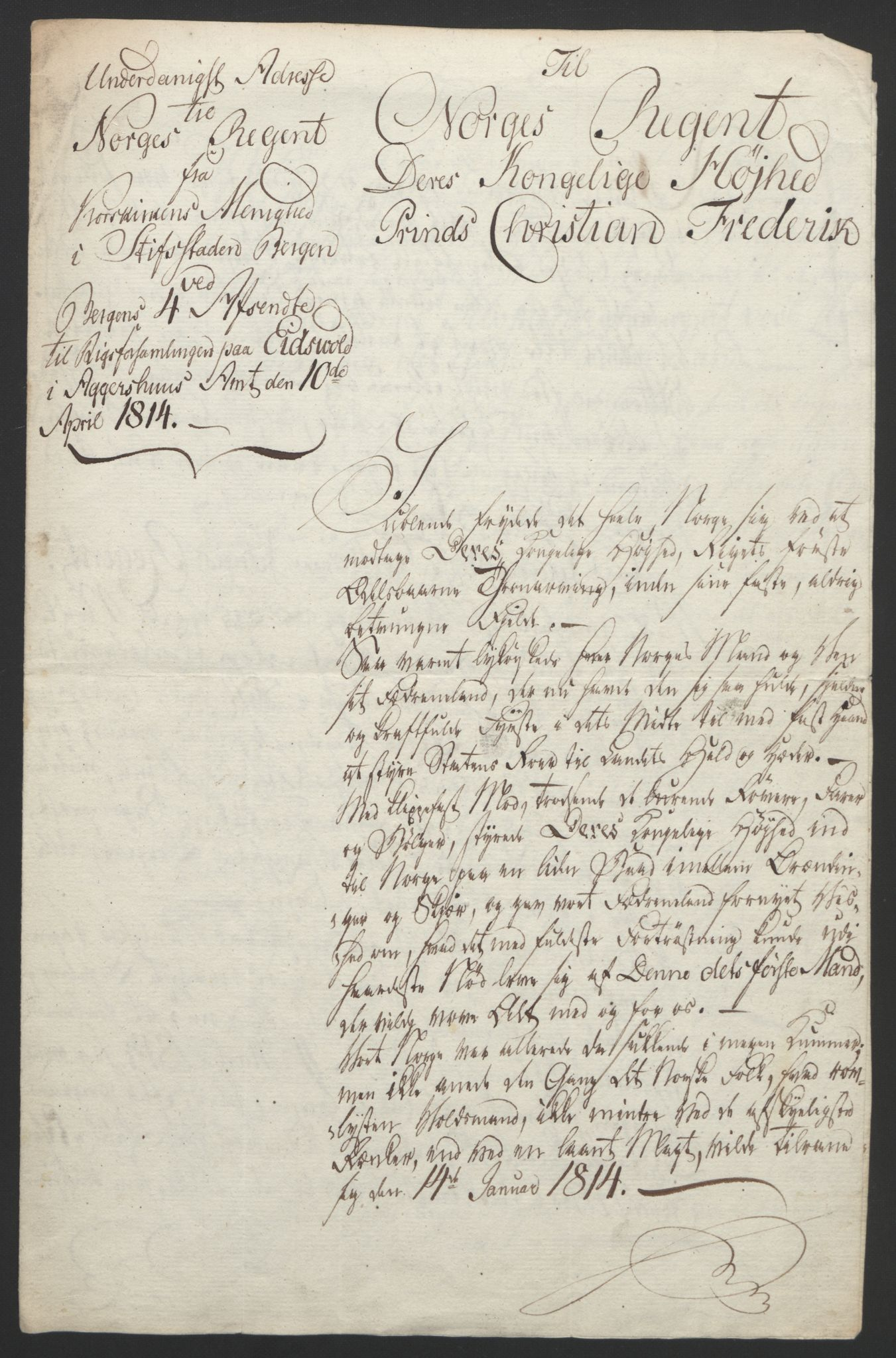 RA, Statsrådssekretariatet, D/Db/L0007: Fullmakter for Eidsvollsrepresentantene i 1814. , 1814, s. 54