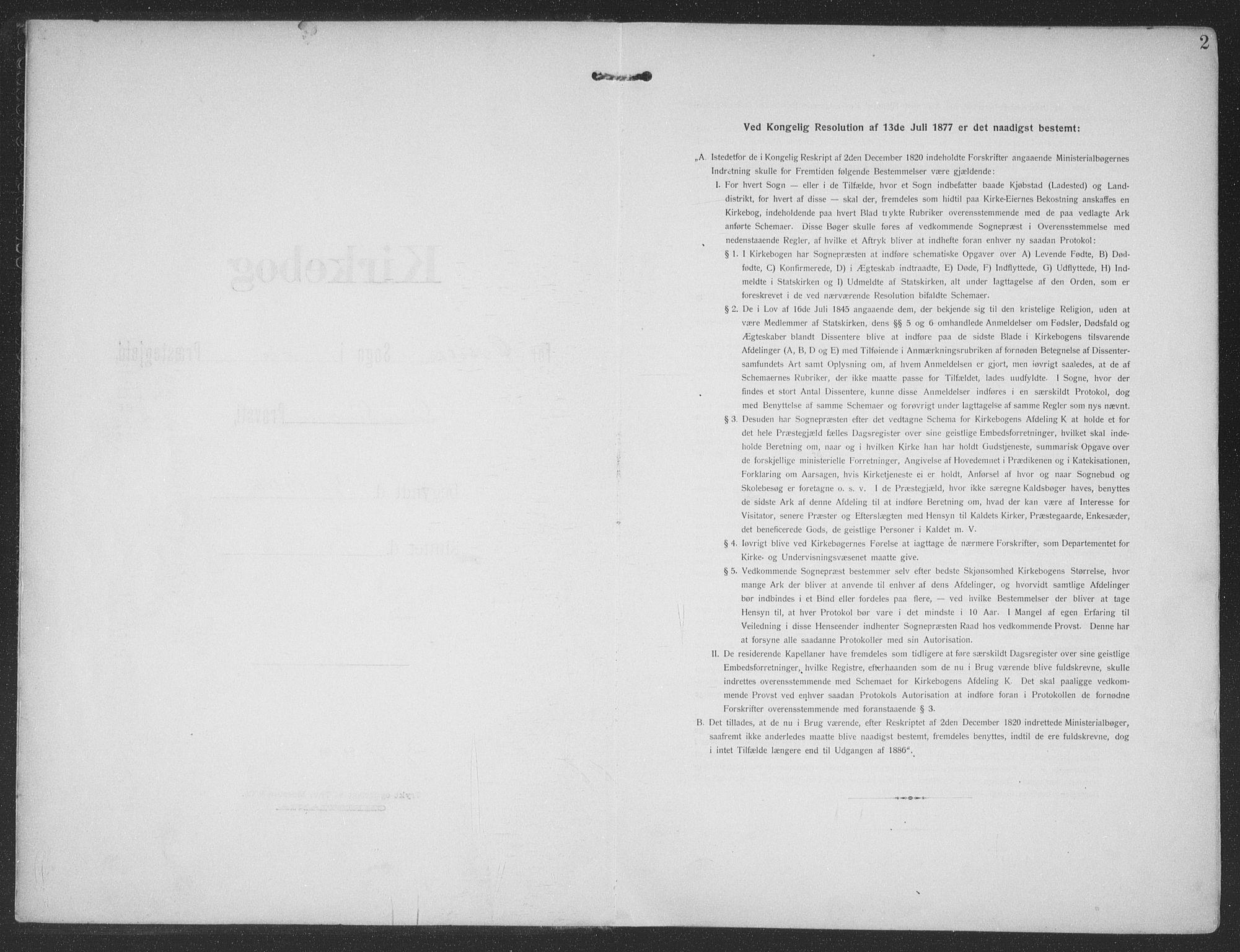 SAT, Ministerialprotokoller, klokkerbøker og fødselsregistre - Møre og Romsdal, 513/L0178: Ministerialbok nr. 513A05, 1906-1919, s. 2
