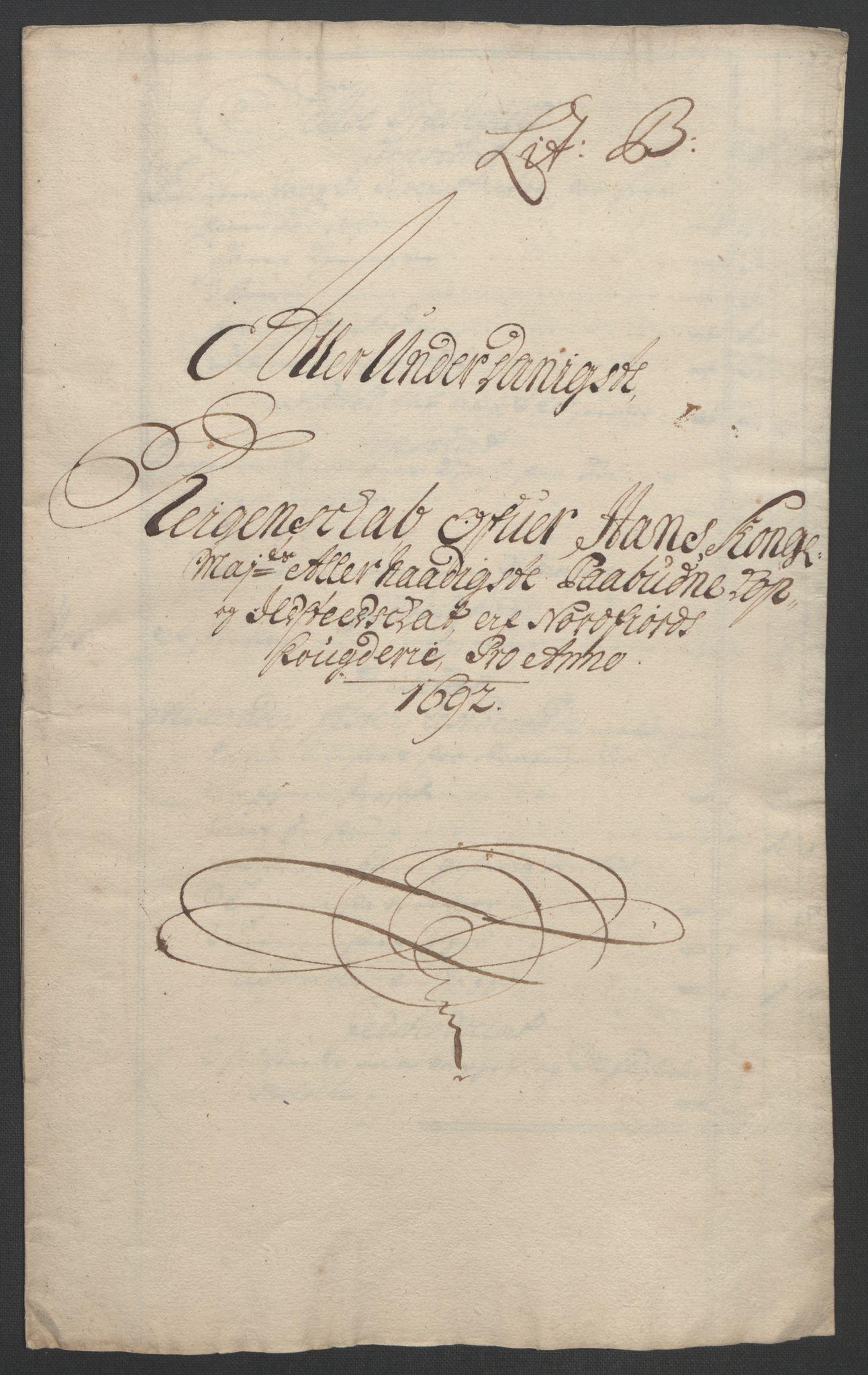 RA, Rentekammeret inntil 1814, Reviderte regnskaper, Fogderegnskap, R53/L3420: Fogderegnskap Sunn- og Nordfjord, 1691-1692, s. 324