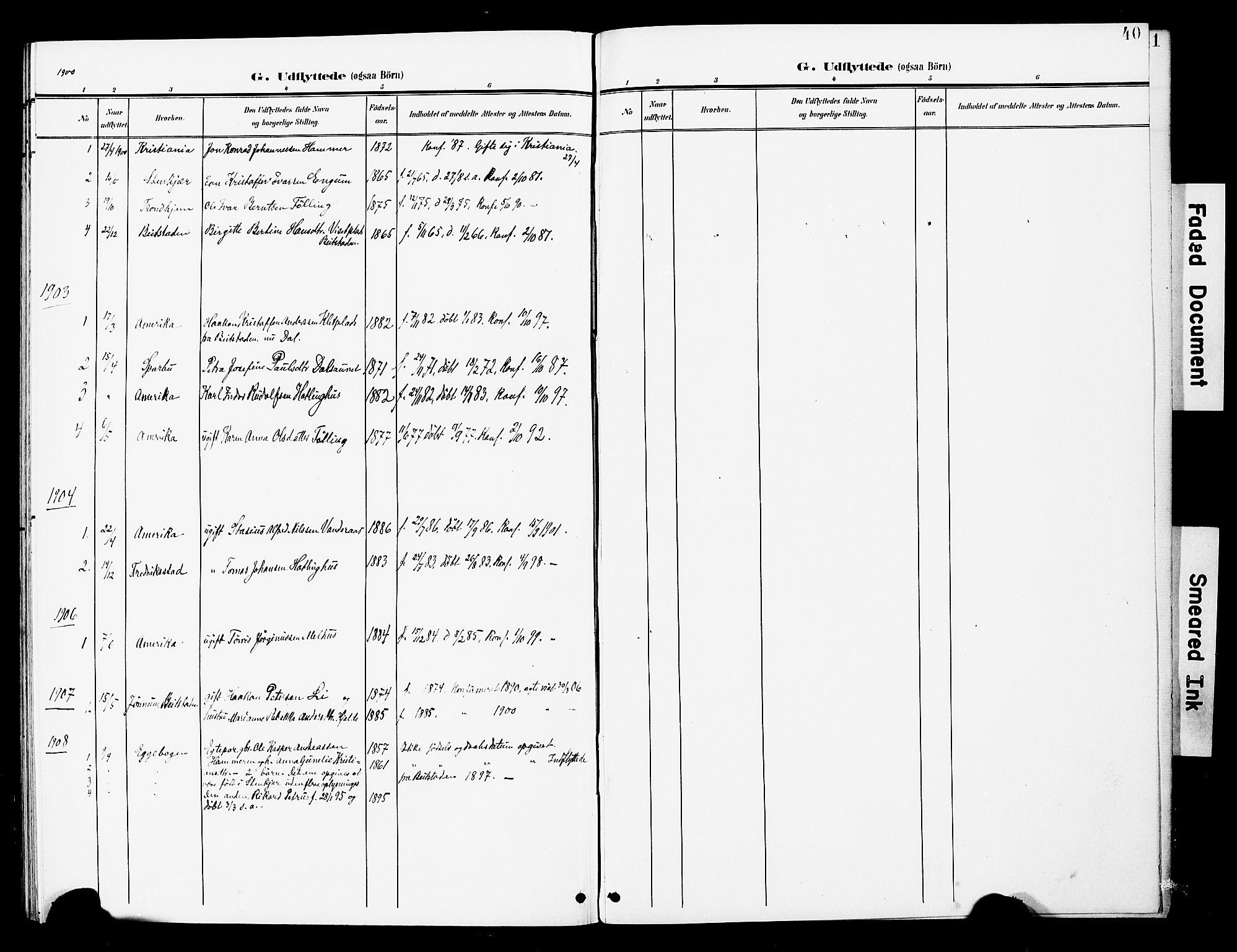 SAT, Ministerialprotokoller, klokkerbøker og fødselsregistre - Nord-Trøndelag, 748/L0464: Ministerialbok nr. 748A01, 1900-1908, s. 40