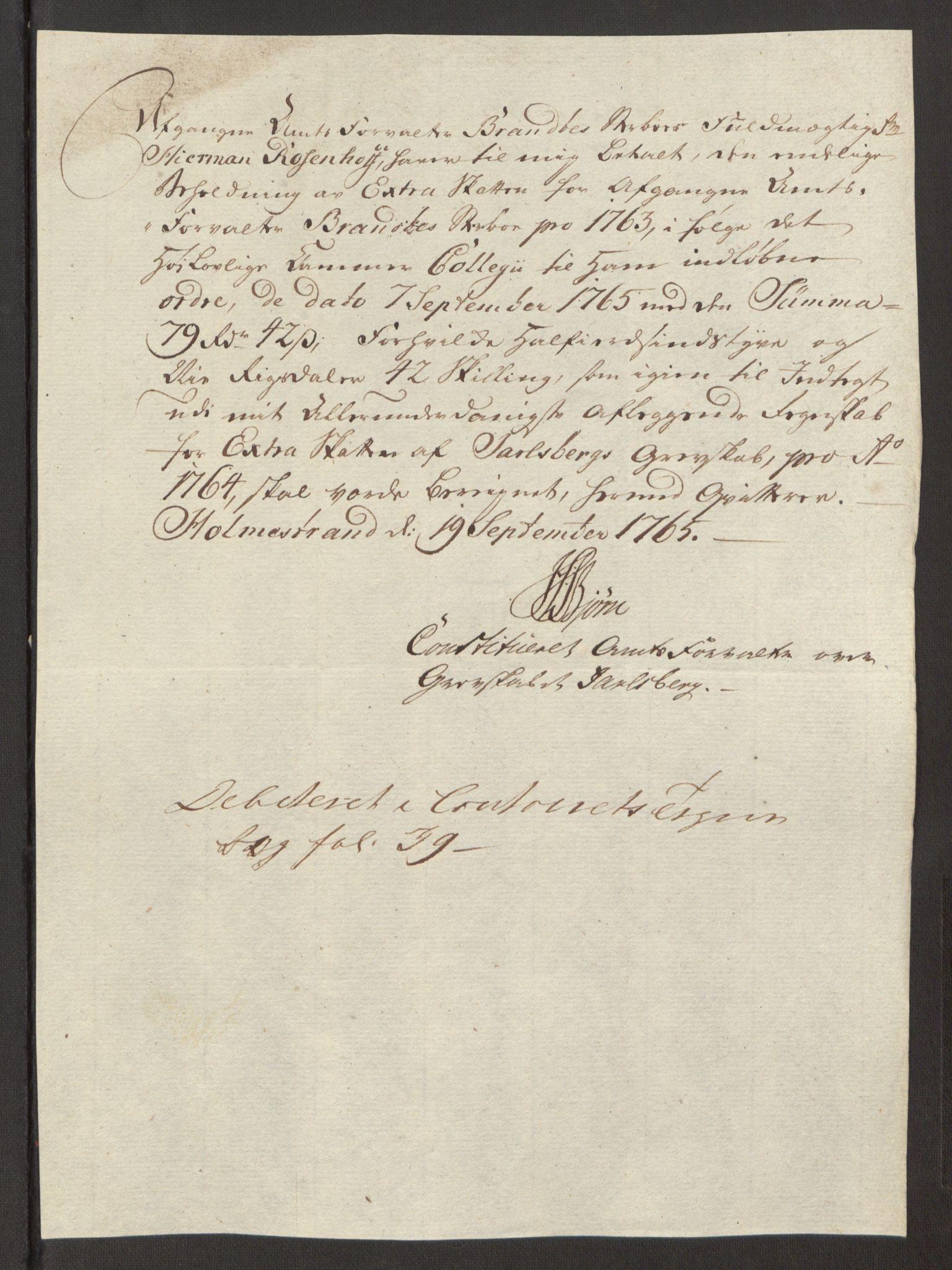 RA, Rentekammeret inntil 1814, Reviderte regnskaper, Fogderegnskap, R32/L1960: Ekstraskatten Jarlsberg grevskap, 1762-1772, s. 39