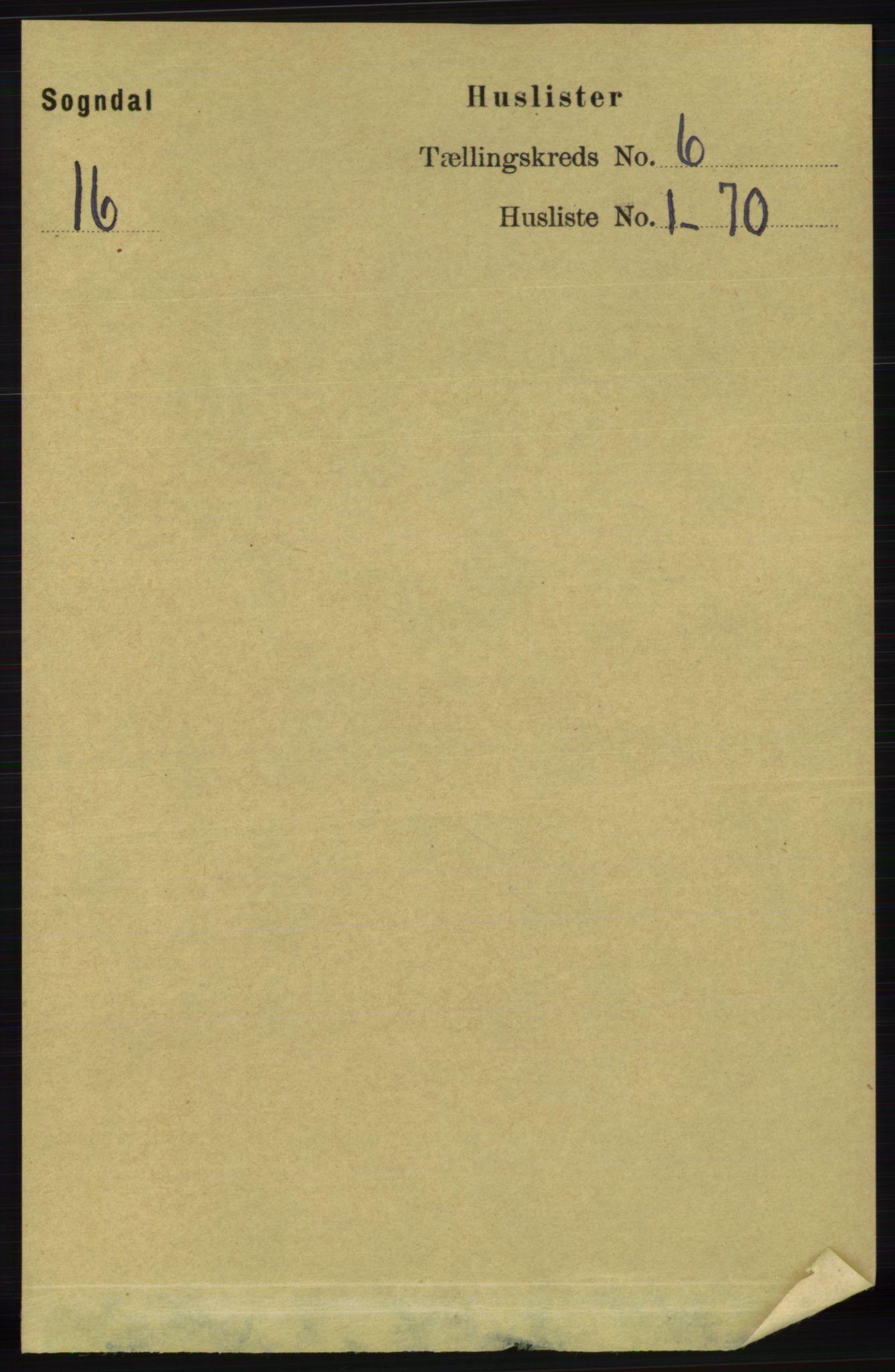 RA, Folketelling 1891 for 1111 Sokndal herred, 1891, s. 1568