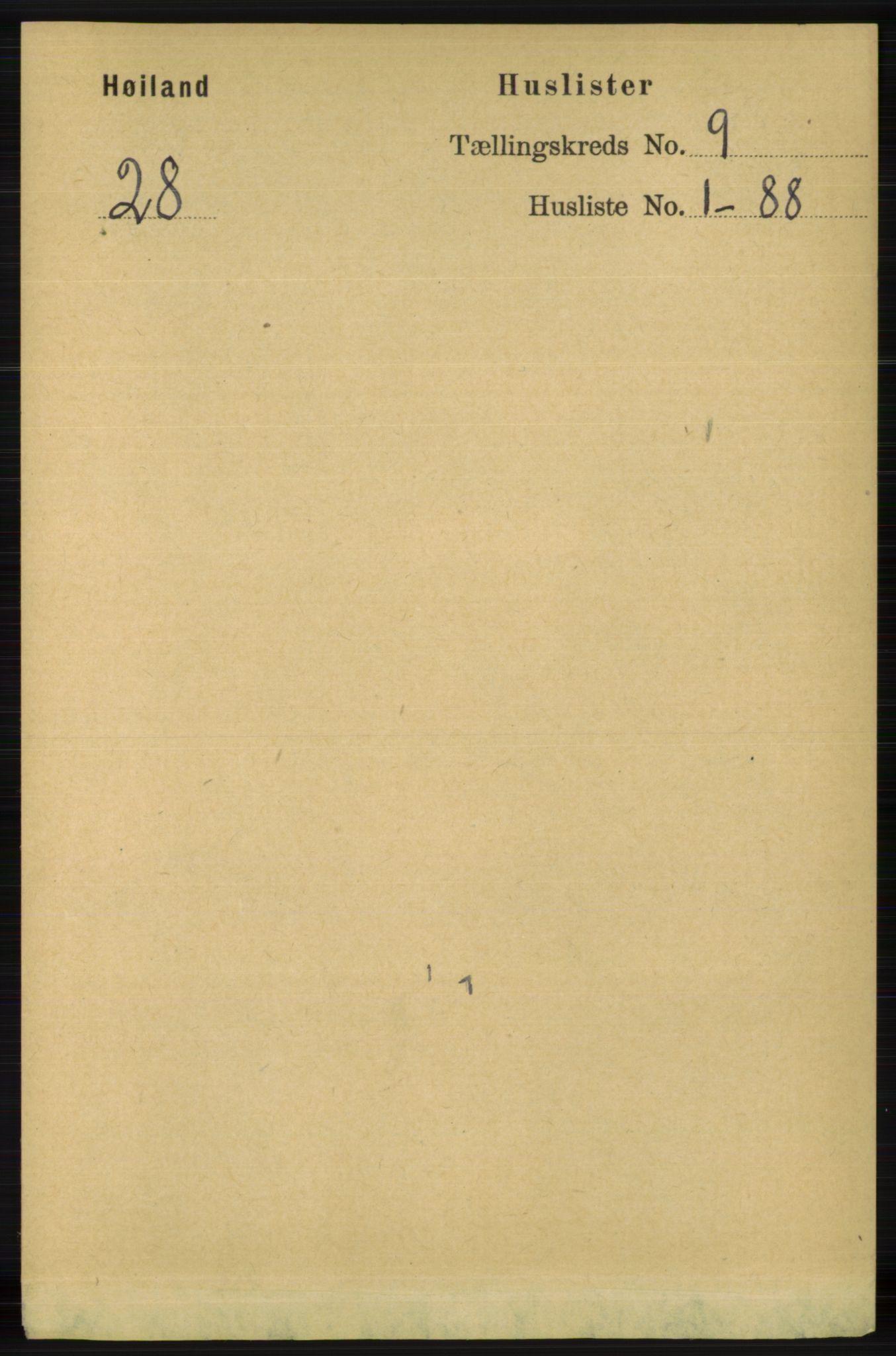 RA, Folketelling 1891 for 1123 Høyland herred, 1891, s. 3458