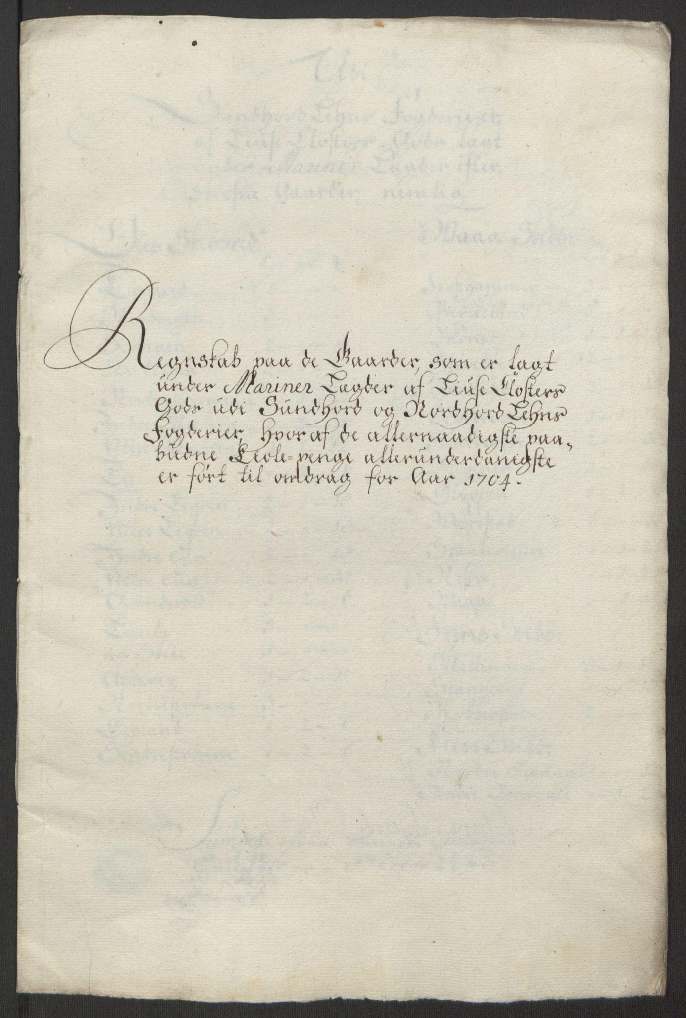 RA, Rentekammeret inntil 1814, Reviderte regnskaper, Fogderegnskap, R50/L3159: Fogderegnskap Lyse kloster, 1691-1709, s. 216