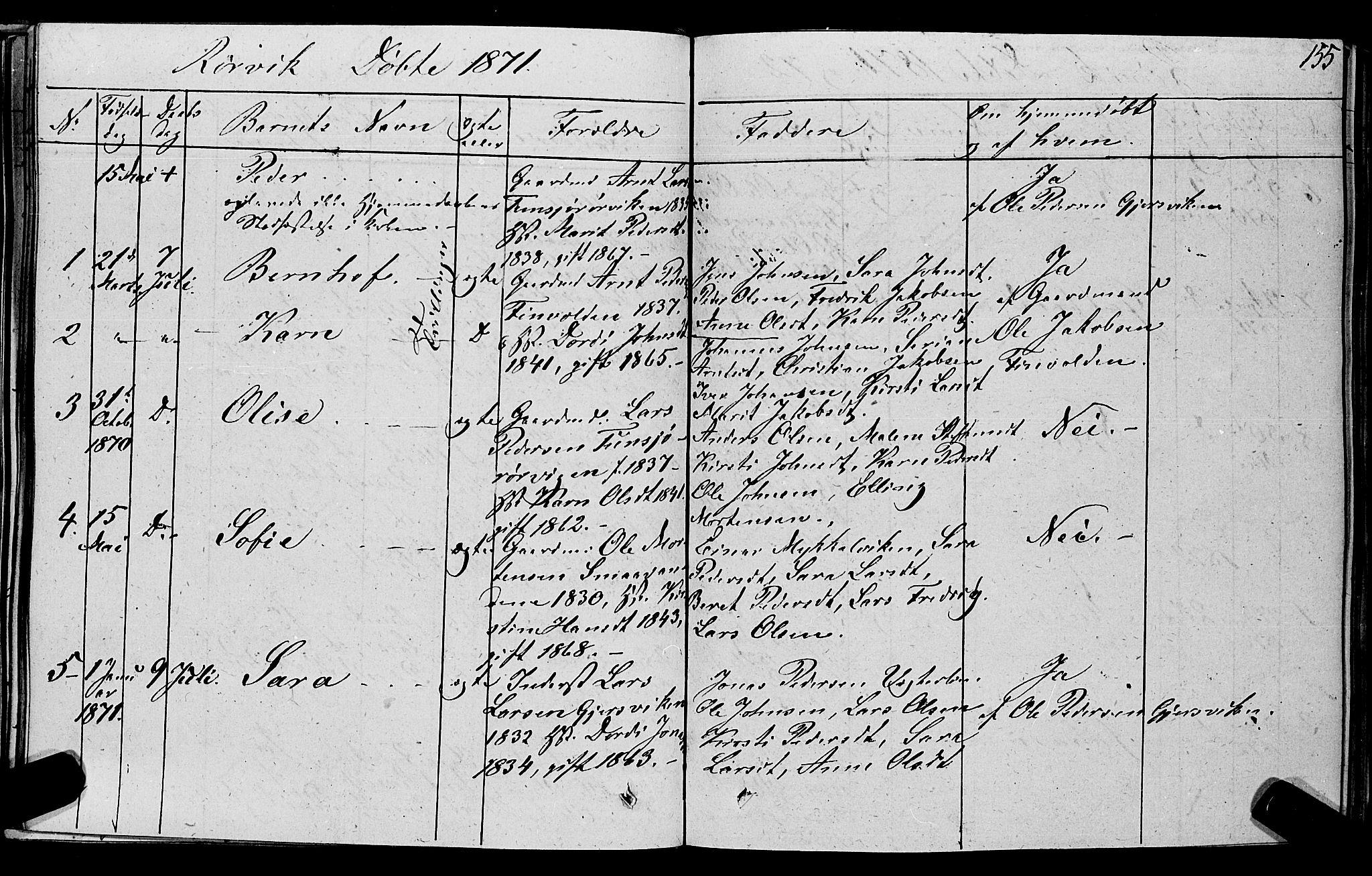 SAT, Ministerialprotokoller, klokkerbøker og fødselsregistre - Nord-Trøndelag, 762/L0538: Ministerialbok nr. 762A02 /1, 1833-1879, s. 155
