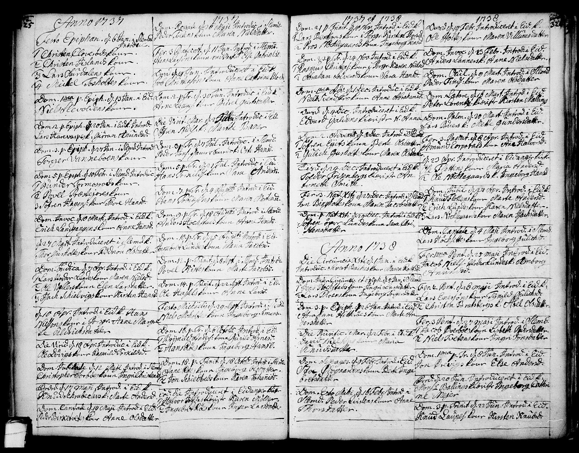 SAKO, Eidanger kirkebøker, F/Fa/L0004: Ministerialbok nr. 4, 1733-1759, s. 325-326