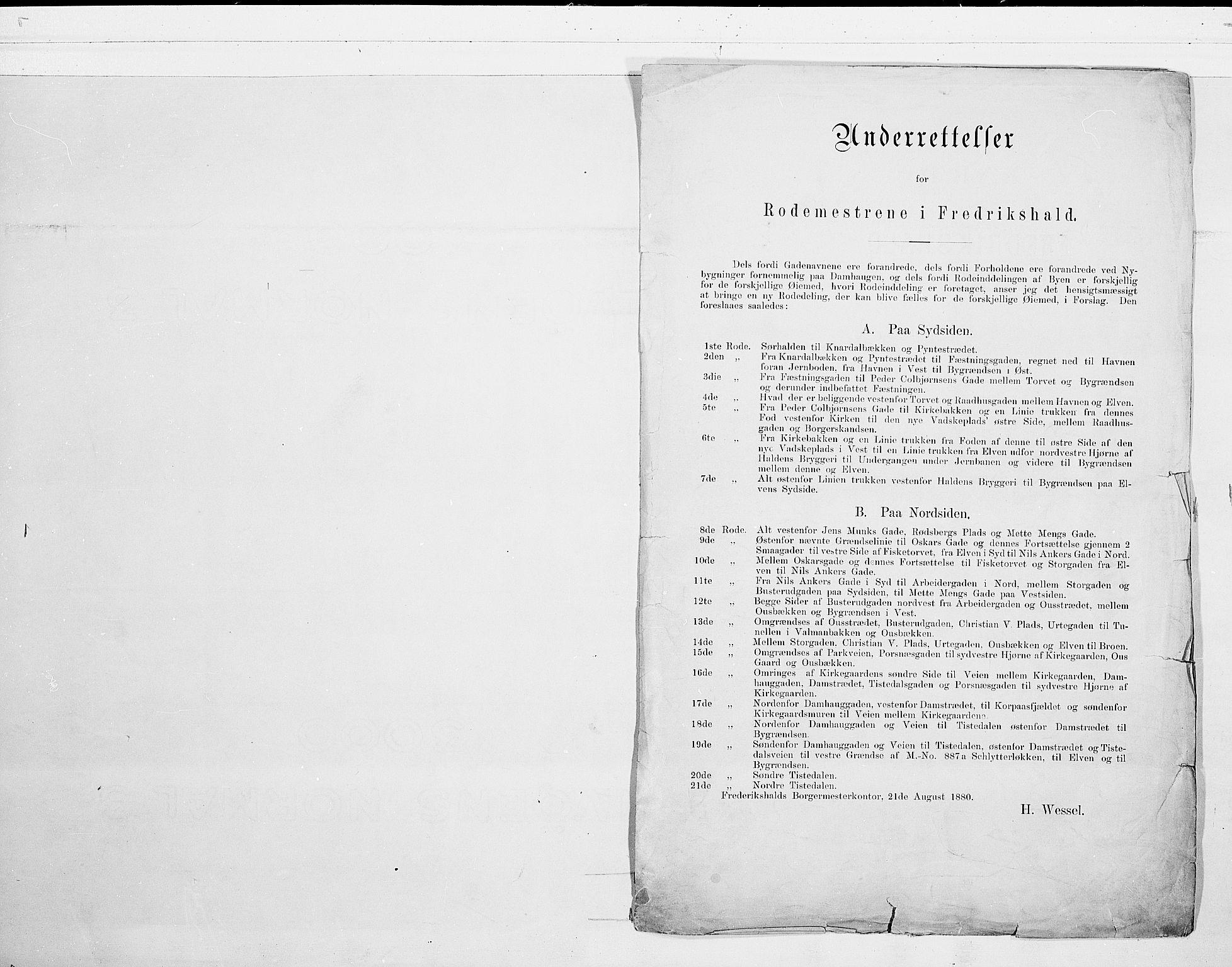 SAO, Folketelling 1900 for 0101 Fredrikshald kjøpstad, 1900, s. 1