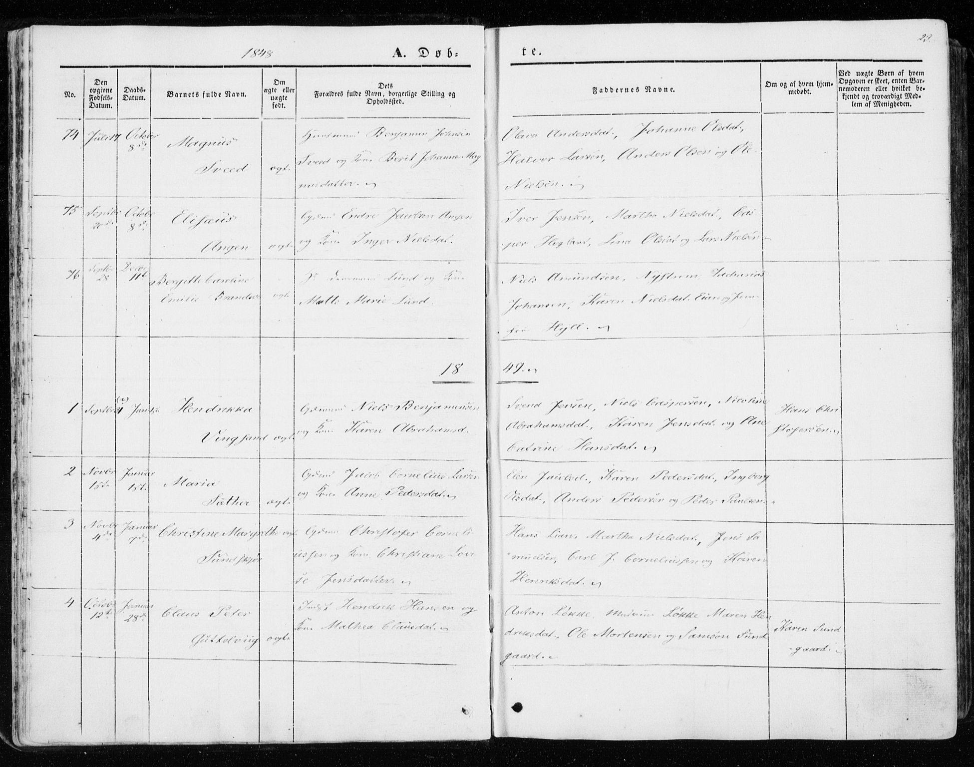 SAT, Ministerialprotokoller, klokkerbøker og fødselsregistre - Sør-Trøndelag, 657/L0704: Ministerialbok nr. 657A05, 1846-1857, s. 23