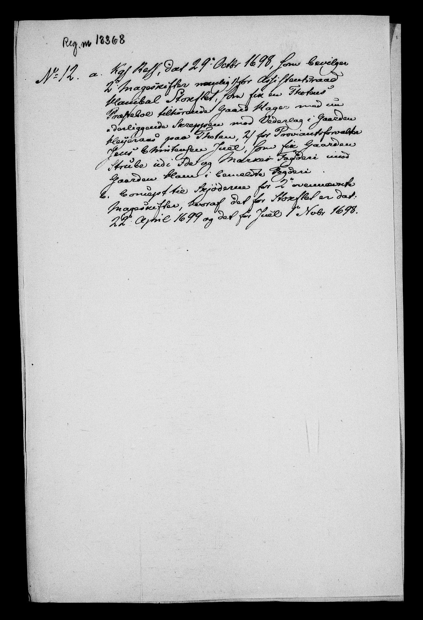 RA, Rentekammeret inntil 1814, Realistisk ordnet avdeling, On/L0013: [Jj 14]: Forskjellige dokumenter om krongodset i Norge, 1672-1722, s. 340