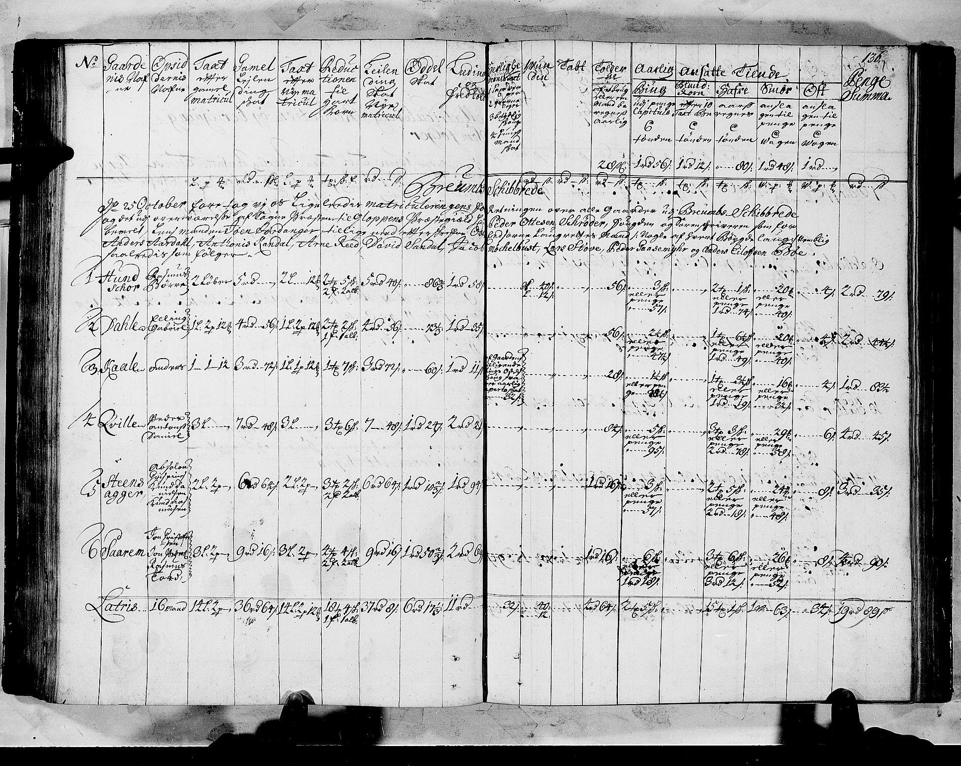 RA, Rentekammeret inntil 1814, Realistisk ordnet avdeling, N/Nb/Nbf/L0147: Sunnfjord og Nordfjord matrikkelprotokoll, 1723, s. 135b-136a