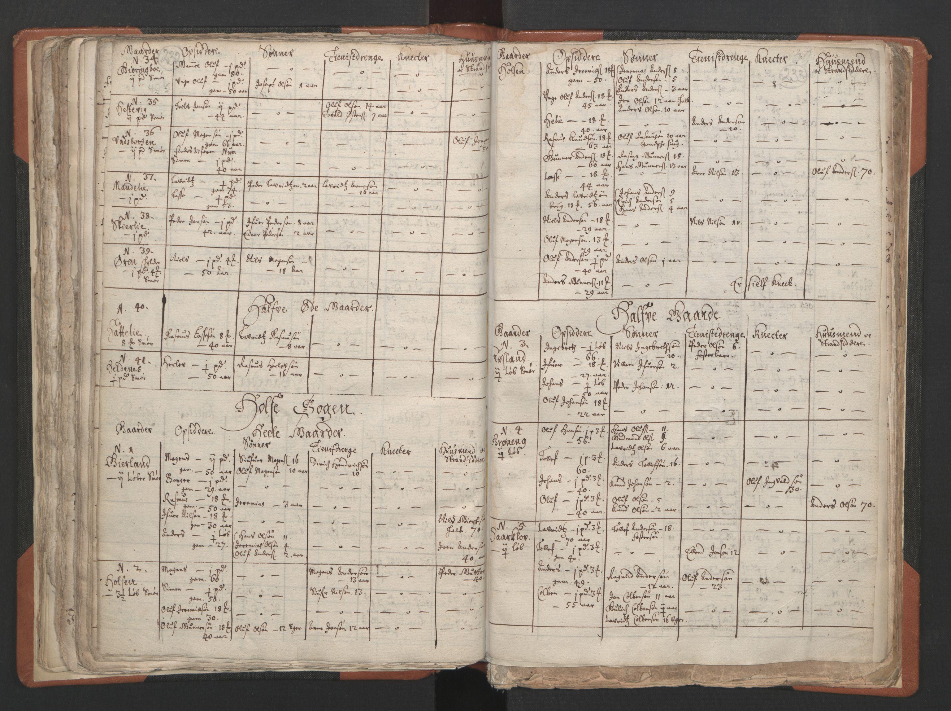 RA, Sogneprestenes manntall 1664-1666, nr. 24: Sunnfjord prosti, 1664-1666, s. 232-233
