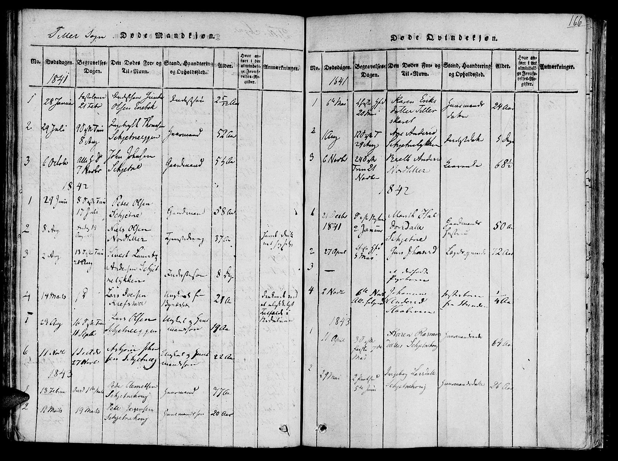 SAT, Ministerialprotokoller, klokkerbøker og fødselsregistre - Sør-Trøndelag, 618/L0440: Ministerialbok nr. 618A04 /2, 1816-1843, s. 166