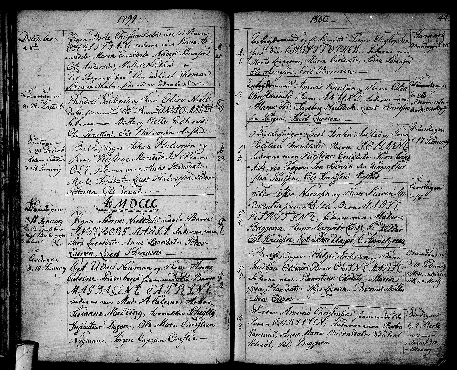SAKO, Strømsø kirkebøker, F/Fa/L0010: Ministerialbok nr. I 10, 1792-1822, s. 44