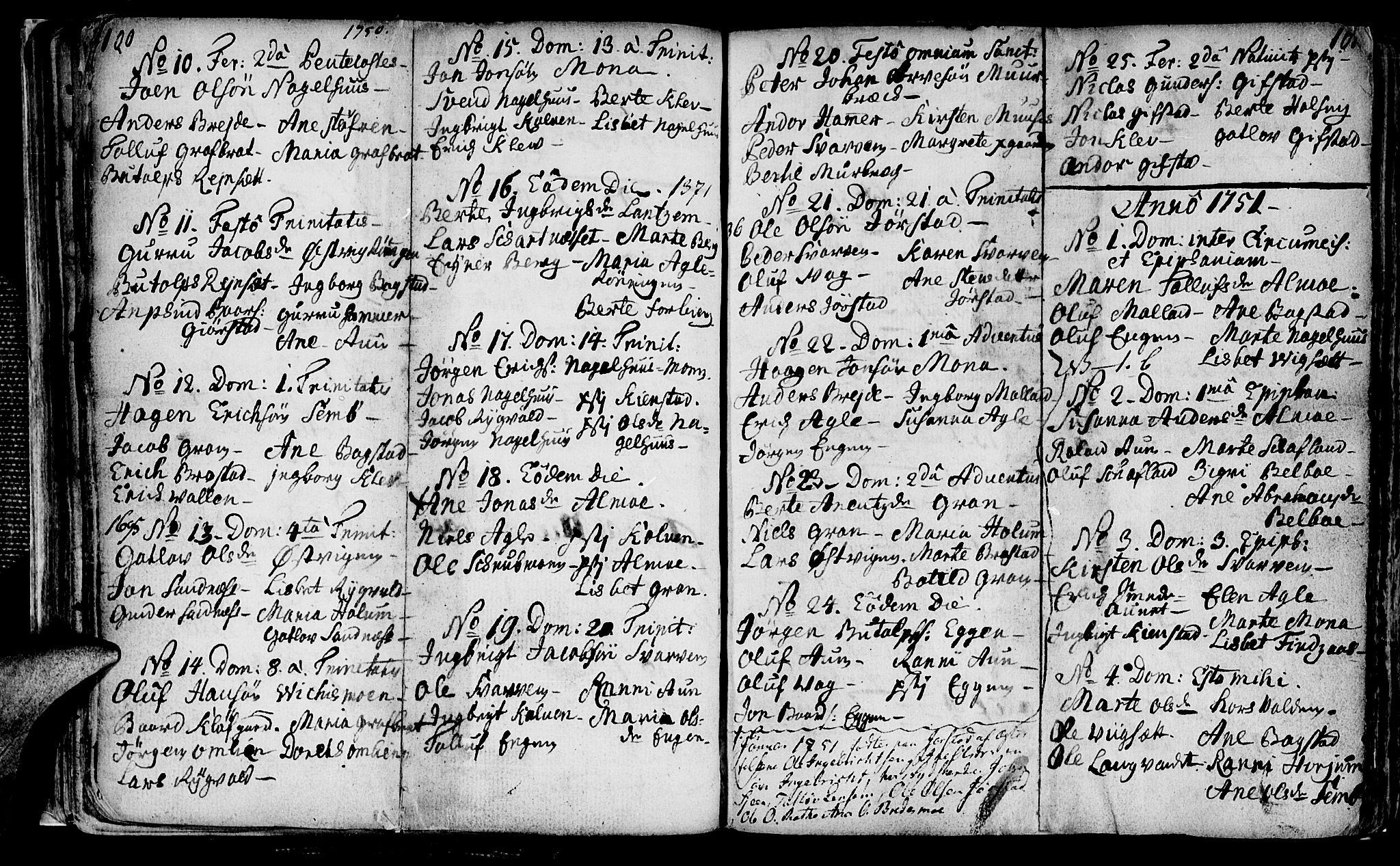 SAT, Ministerialprotokoller, klokkerbøker og fødselsregistre - Nord-Trøndelag, 749/L0467: Ministerialbok nr. 749A01, 1733-1787, s. 100-101