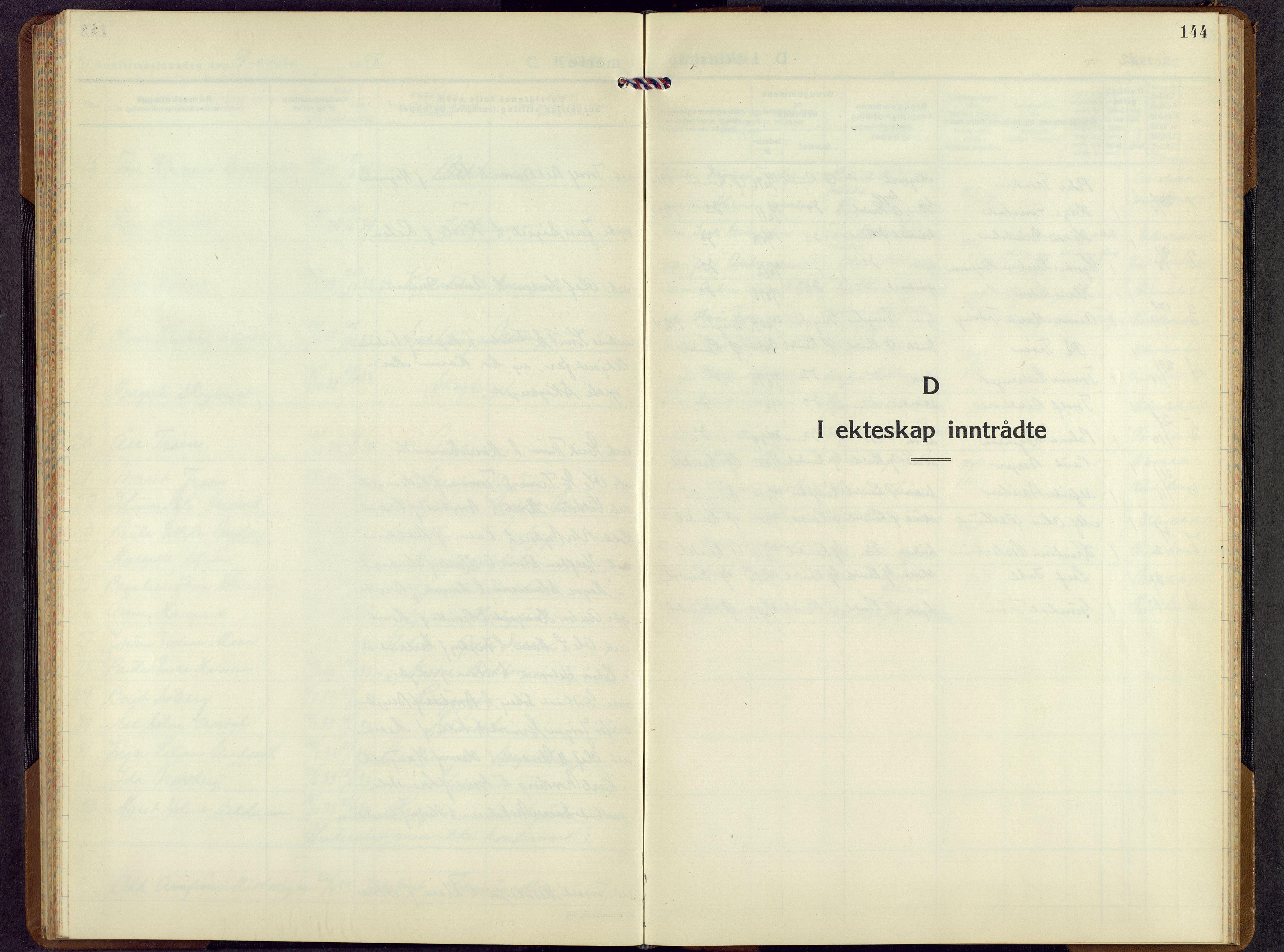 SAH, Rendalen prestekontor, H/Ha/Hab/L0005: Klokkerbok nr. 5, 1931-1959, s. 144
