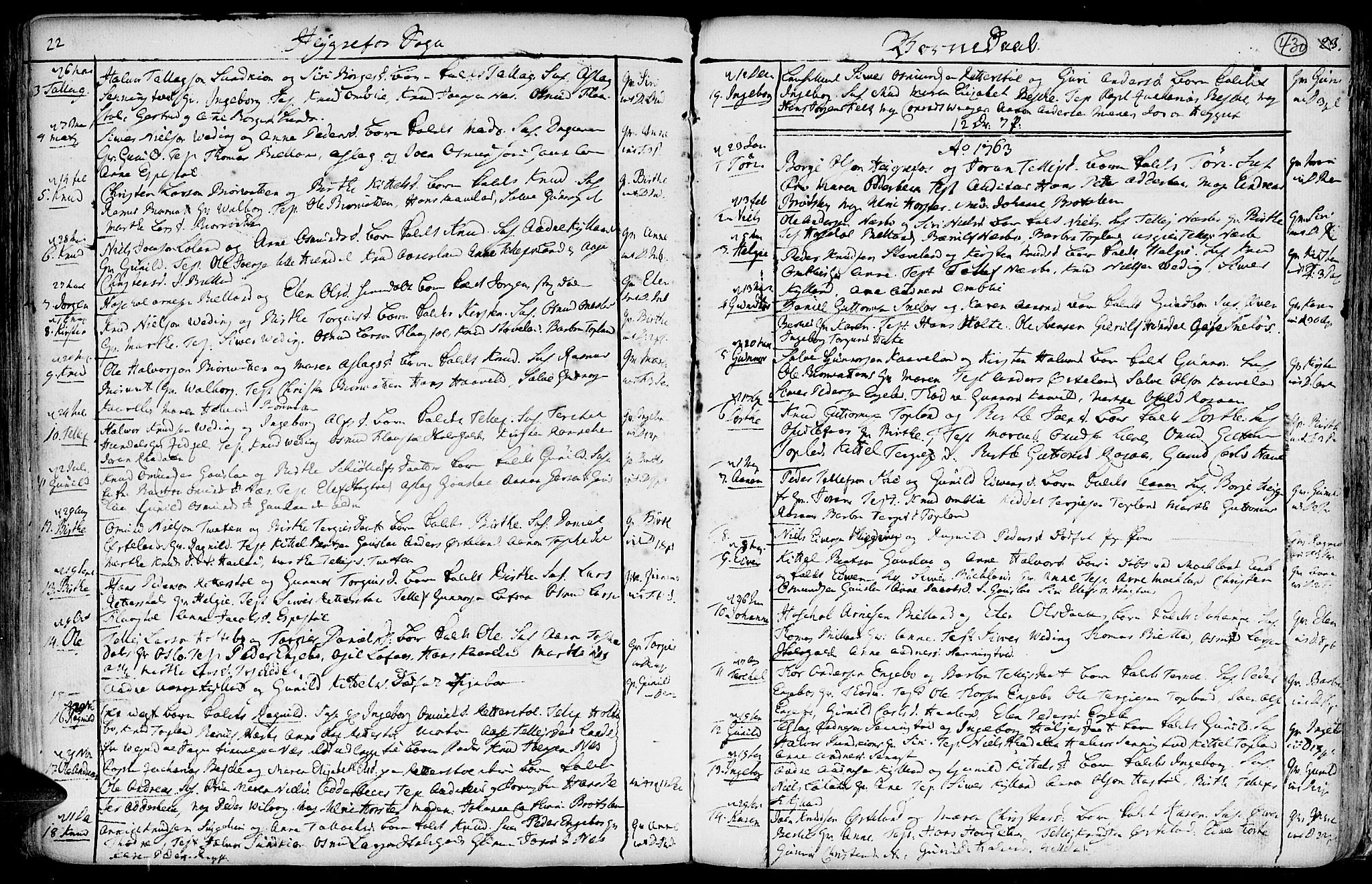 SAK, Hommedal sokneprestkontor, F/Fa/Fab/L0002: Ministerialbok nr. A 2 /3, 1740-1821, s. 430