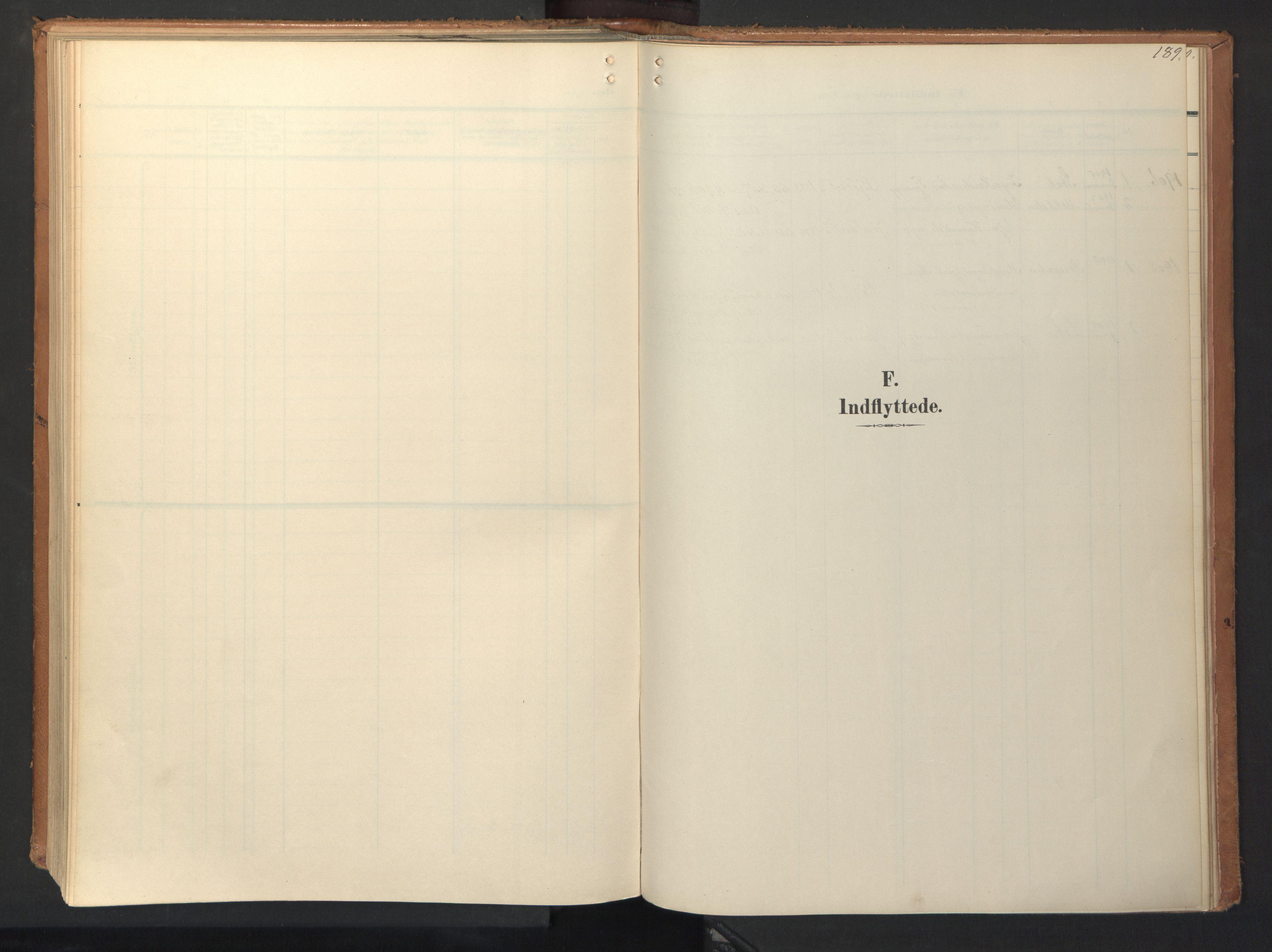 SAT, Ministerialprotokoller, klokkerbøker og fødselsregistre - Sør-Trøndelag, 694/L1128: Ministerialbok nr. 694A02, 1906-1931, s. 189