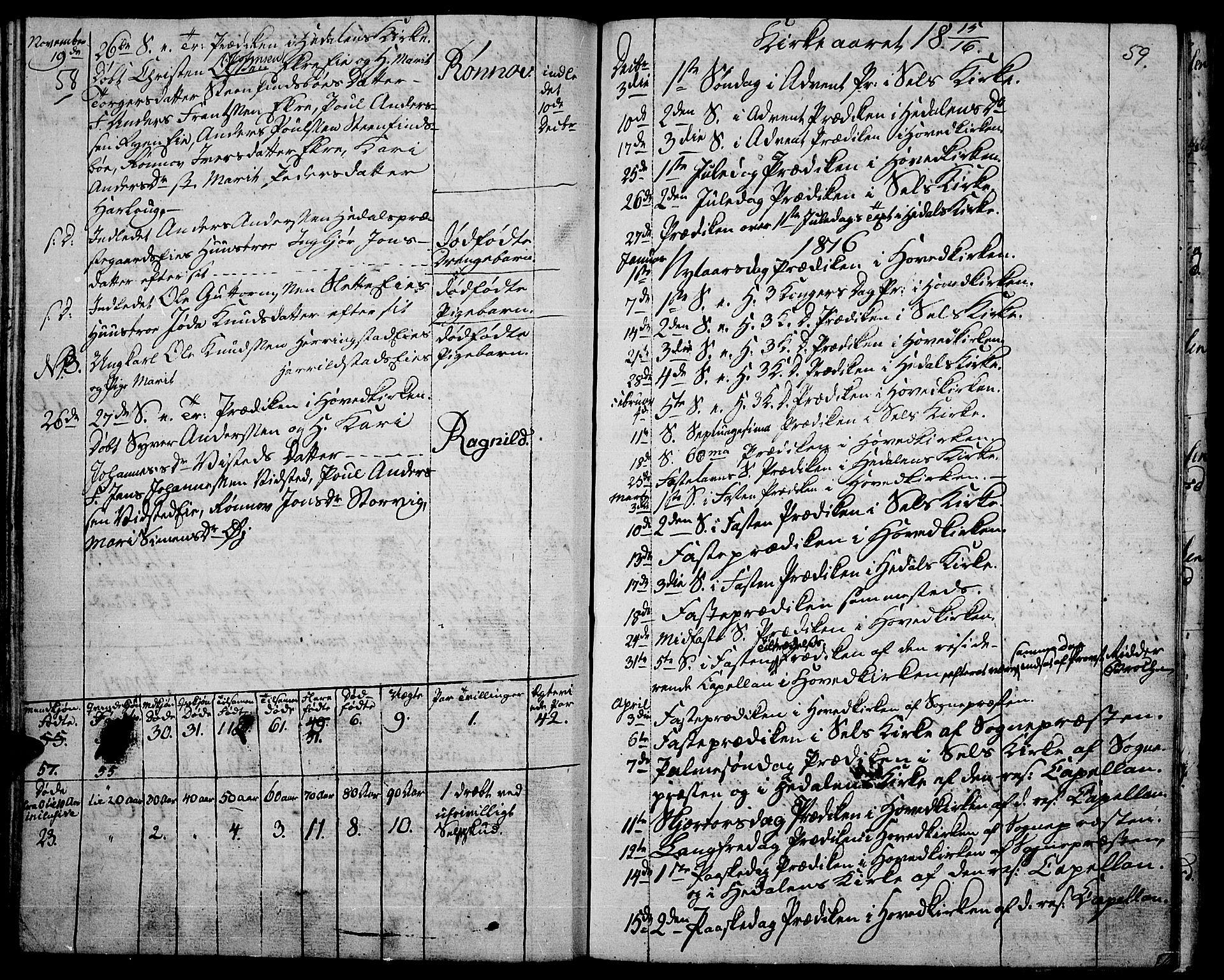SAH, Vågå prestekontor, Ministerialbok nr. 2, 1810-1815, s. 58-59