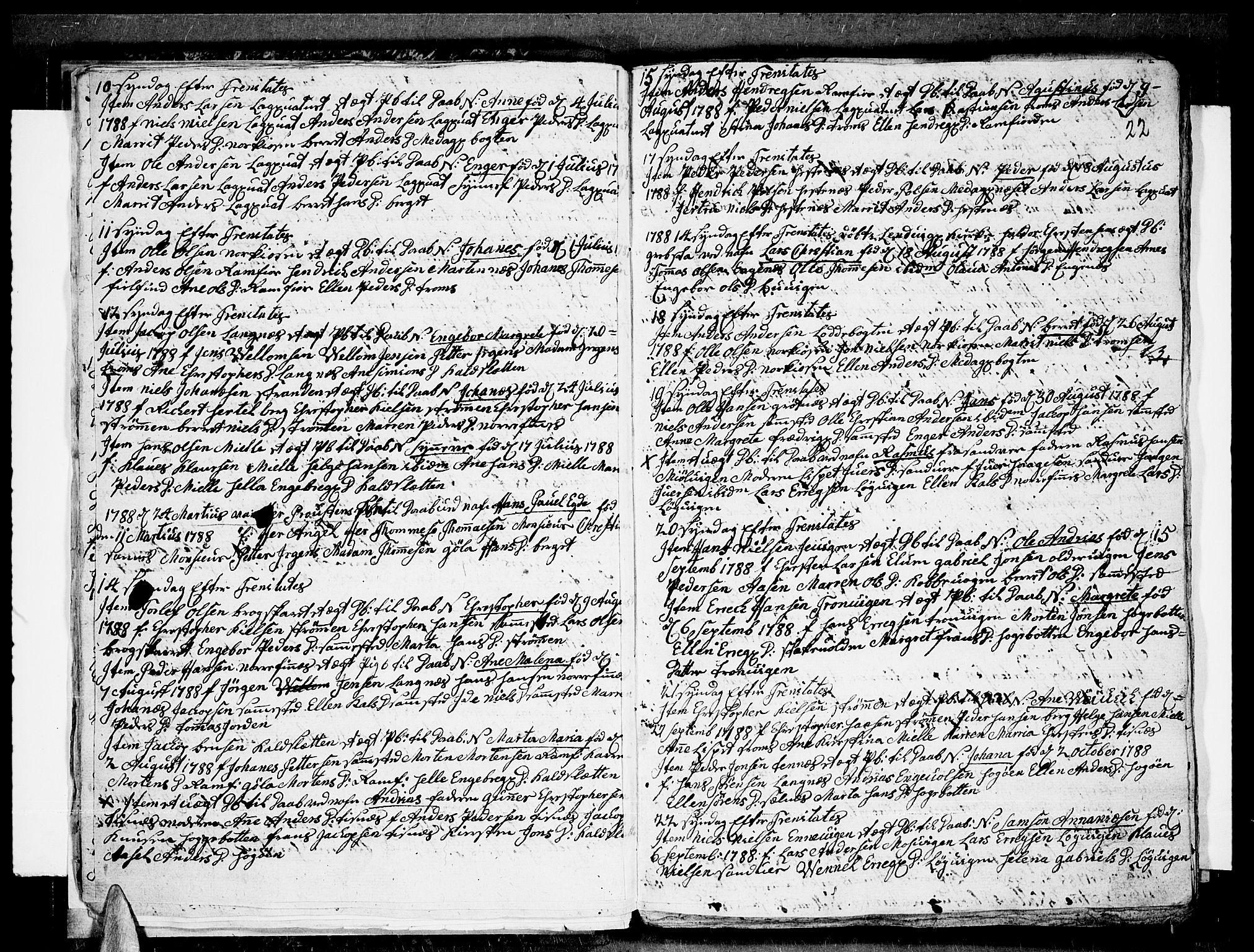 SATØ, Tromsø sokneprestkontor/stiftsprosti/domprosti, G/Ga/L0004kirke: Ministerialbok nr. 4, 1787-1795, s. 22