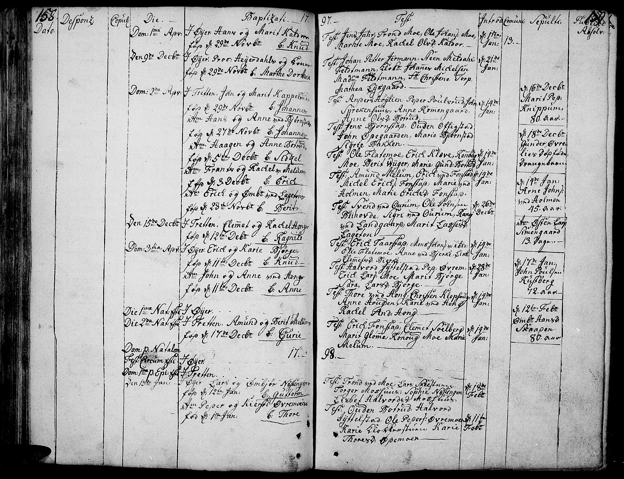 SAH, Øyer prestekontor, Ministerialbok nr. 3, 1784-1824, s. 158-159