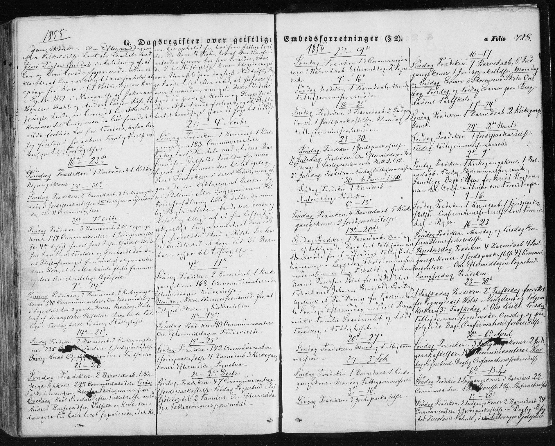 SAT, Ministerialprotokoller, klokkerbøker og fødselsregistre - Sør-Trøndelag, 681/L0931: Ministerialbok nr. 681A09, 1845-1859, s. 728
