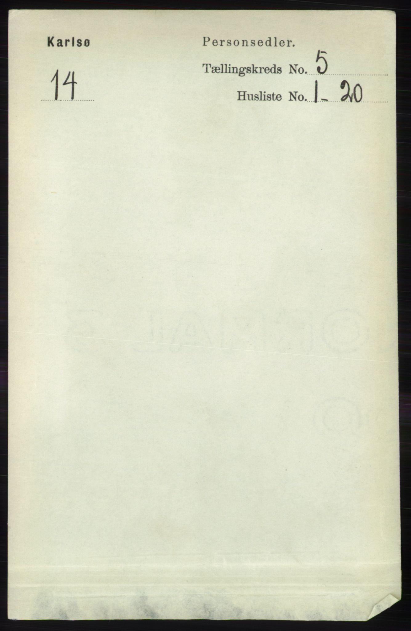 RA, Folketelling 1891 for 1936 Karlsøy herred, 1891, s. 1316