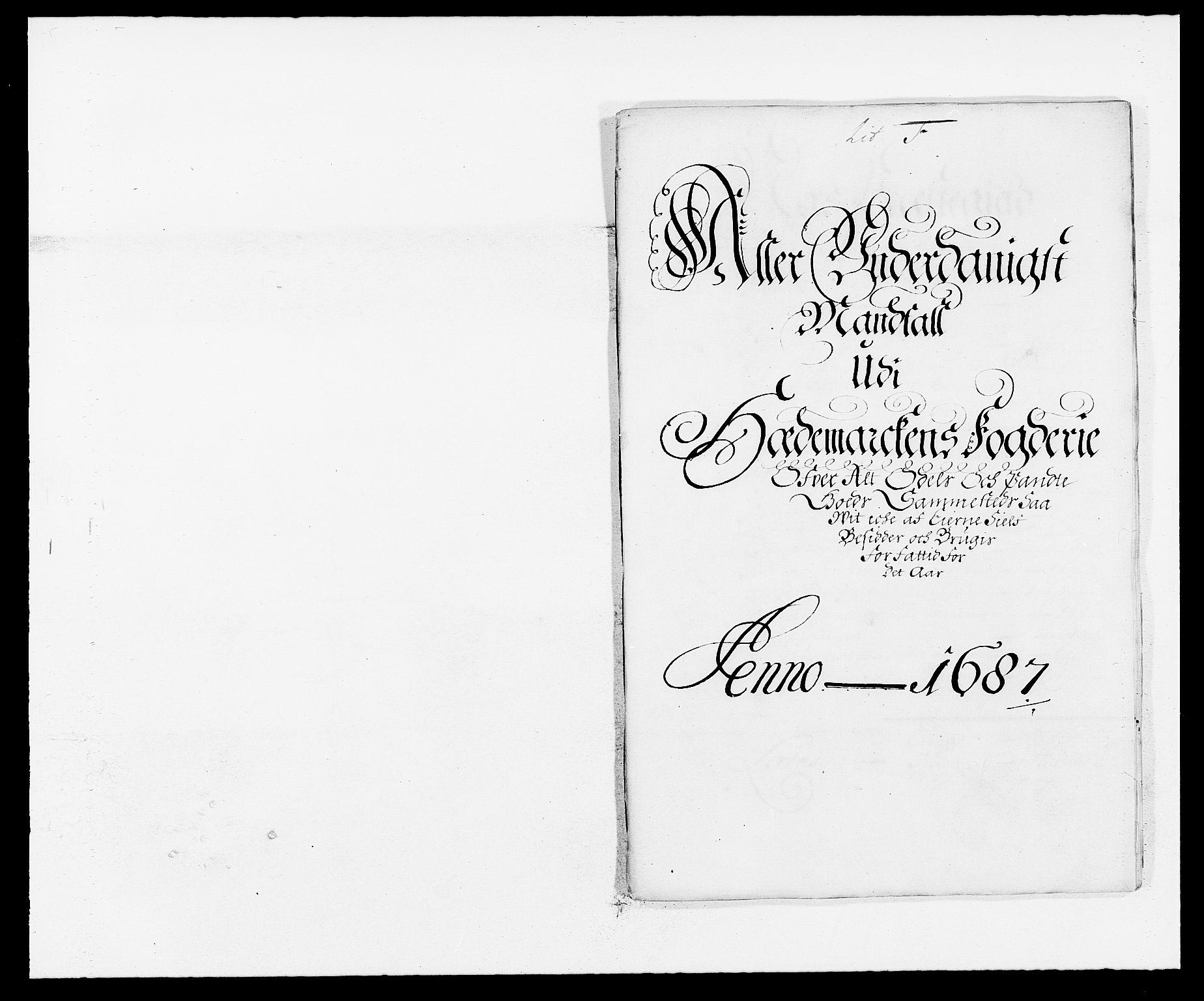 RA, Rentekammeret inntil 1814, Reviderte regnskaper, Fogderegnskap, R16/L1028: Fogderegnskap Hedmark, 1687, s. 81