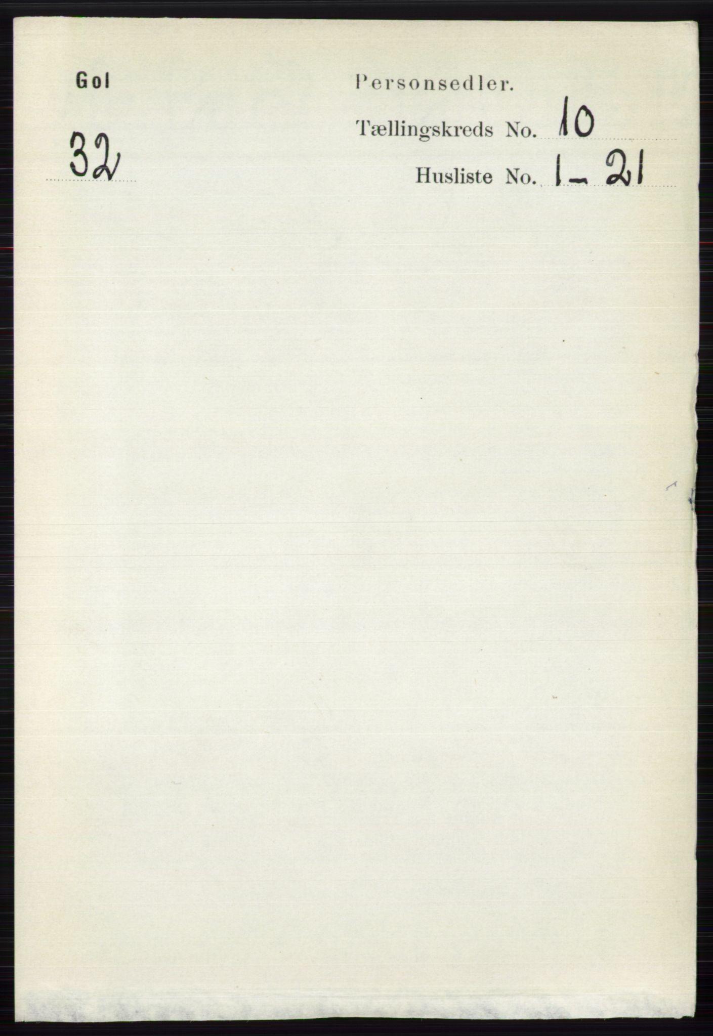 RA, Folketelling 1891 for 0617 Gol og Hemsedal herred, 1891, s. 4028