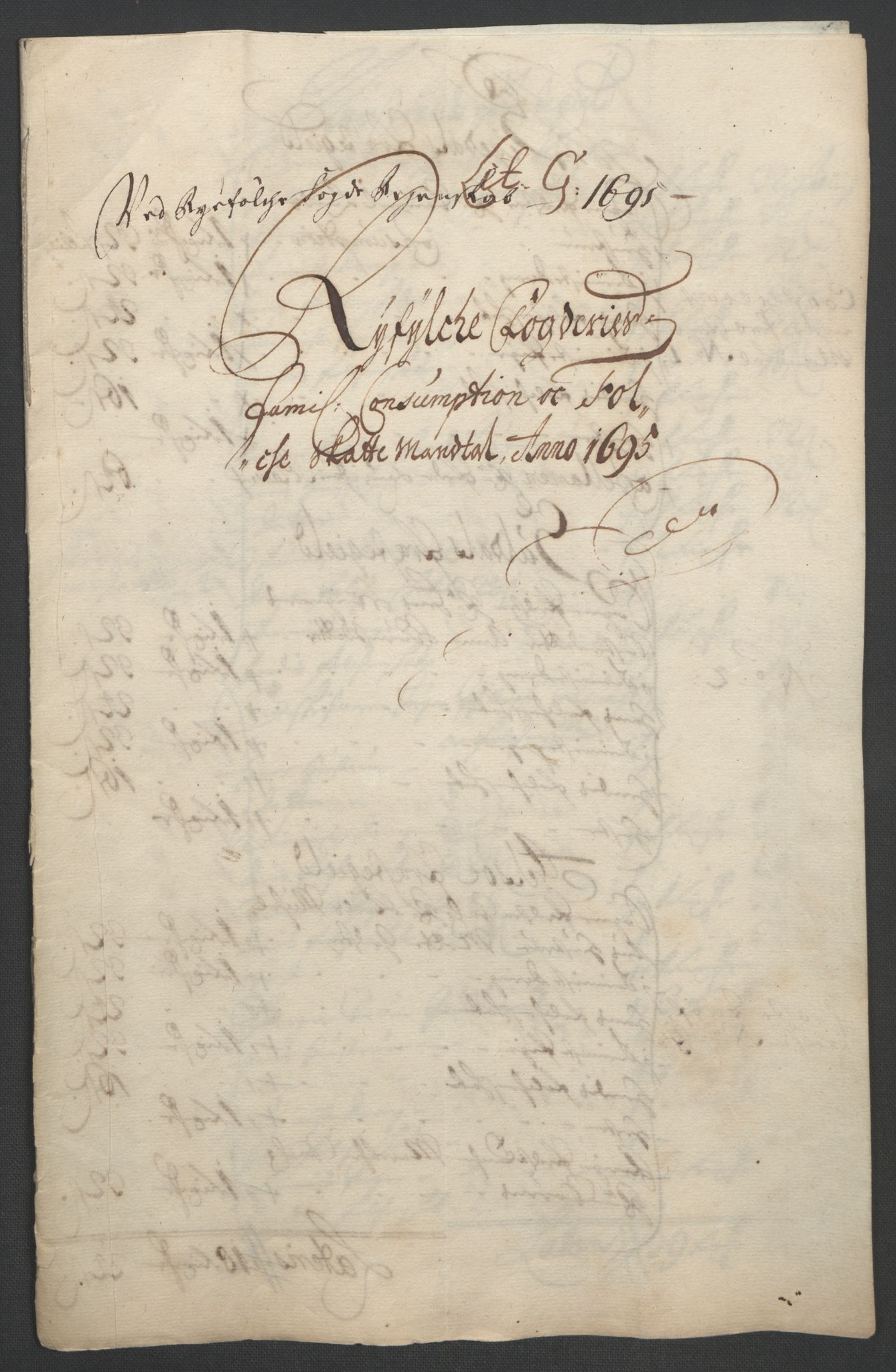 RA, Rentekammeret inntil 1814, Reviderte regnskaper, Fogderegnskap, R47/L2857: Fogderegnskap Ryfylke, 1694-1696, s. 144
