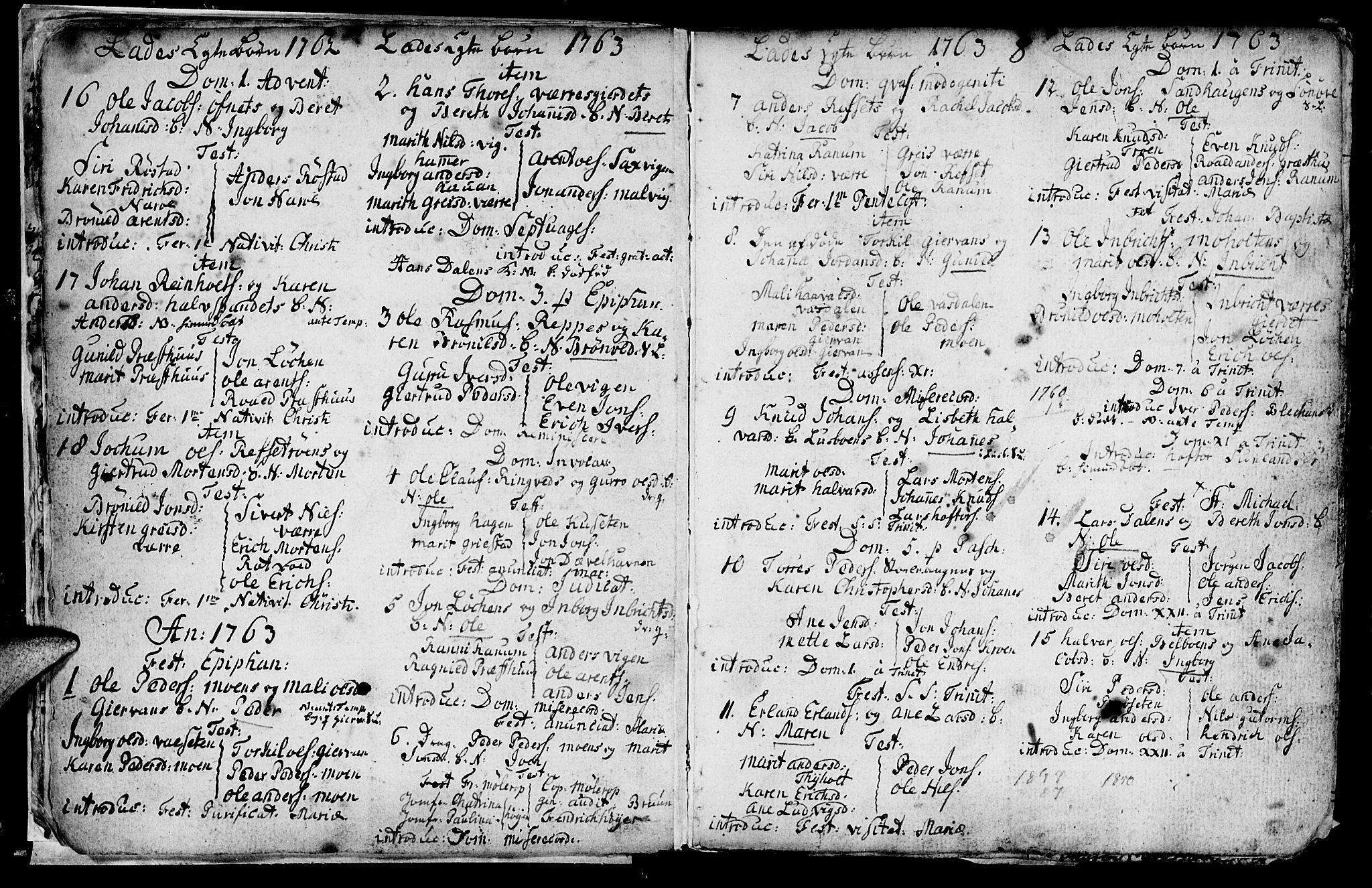 SAT, Ministerialprotokoller, klokkerbøker og fødselsregistre - Sør-Trøndelag, 606/L0305: Klokkerbok nr. 606C01, 1757-1819, s. 8