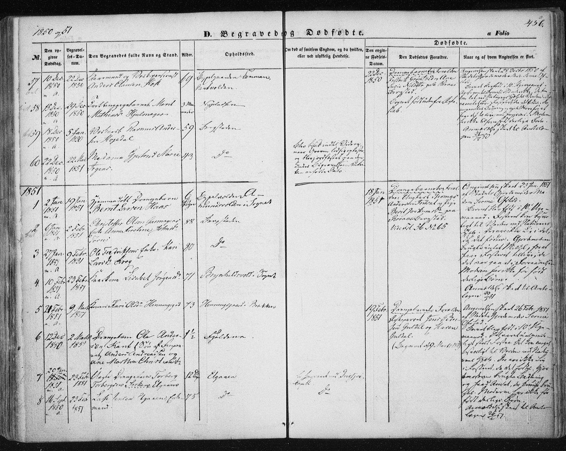 SAT, Ministerialprotokoller, klokkerbøker og fødselsregistre - Sør-Trøndelag, 681/L0931: Ministerialbok nr. 681A09, 1845-1859, s. 456
