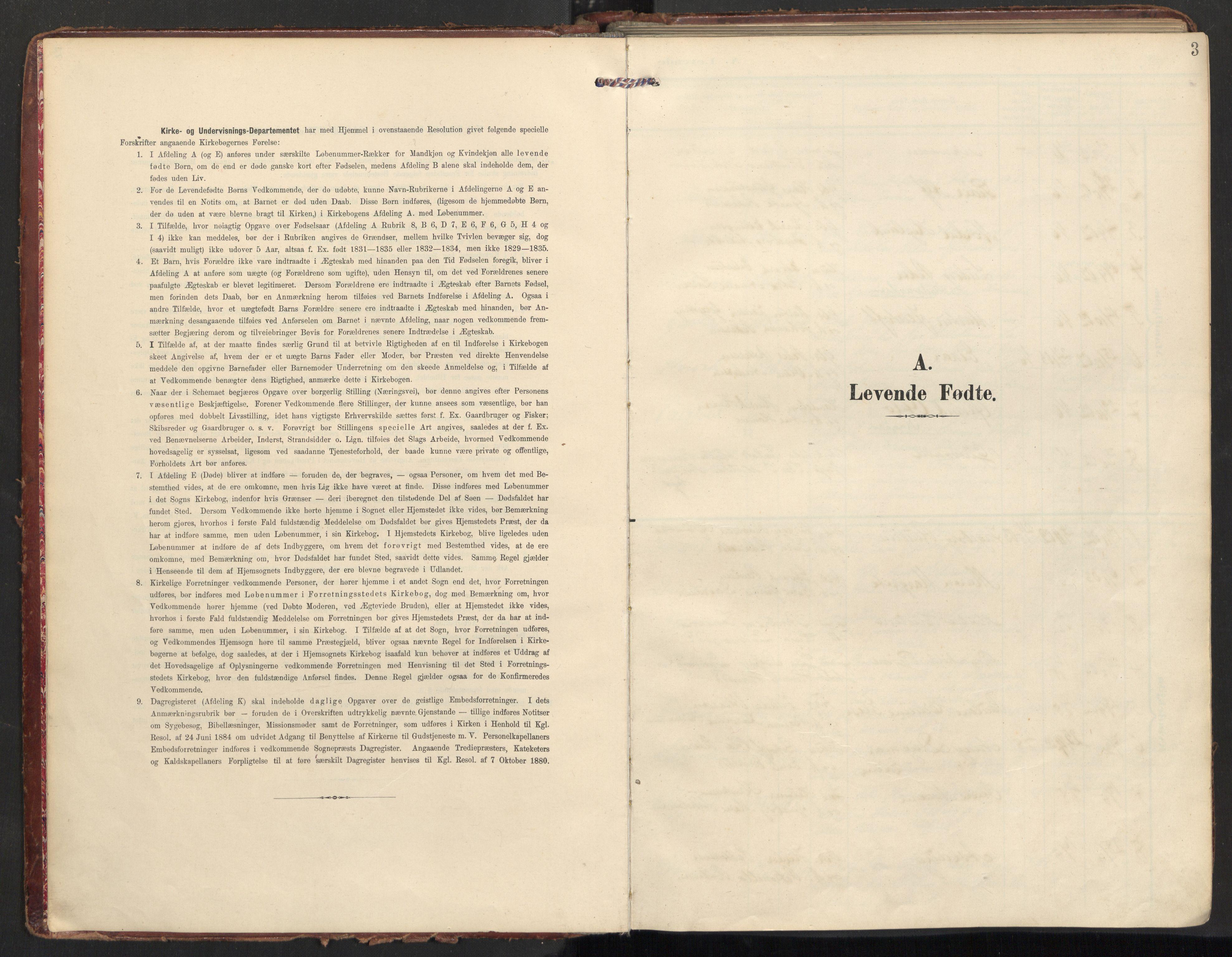 SAT, Ministerialprotokoller, klokkerbøker og fødselsregistre - Nordland, 890/L1287: Ministerialbok nr. 890A02, 1903-1915, s. 3