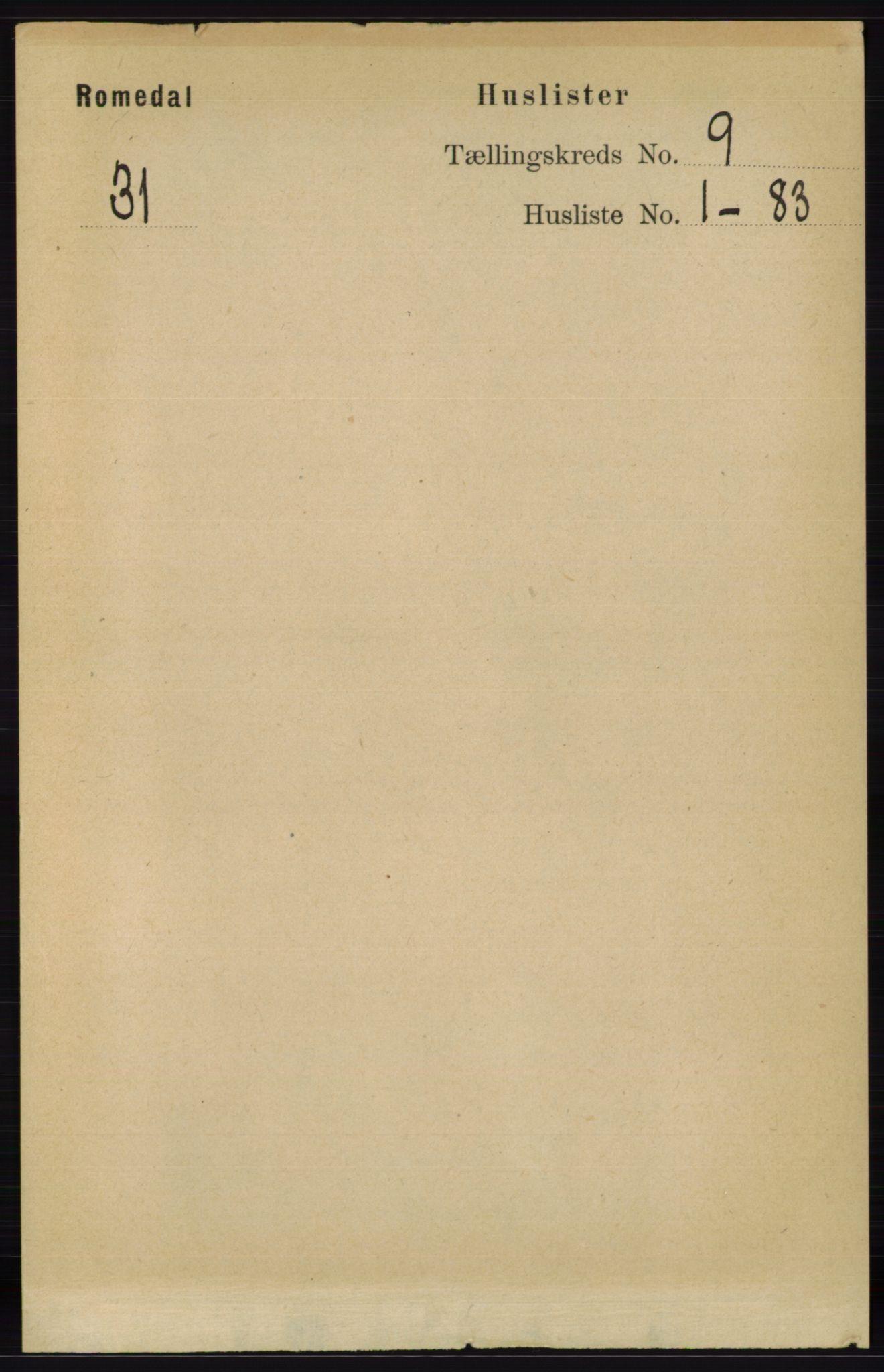 RA, Folketelling 1891 for 0416 Romedal herred, 1891, s. 4235