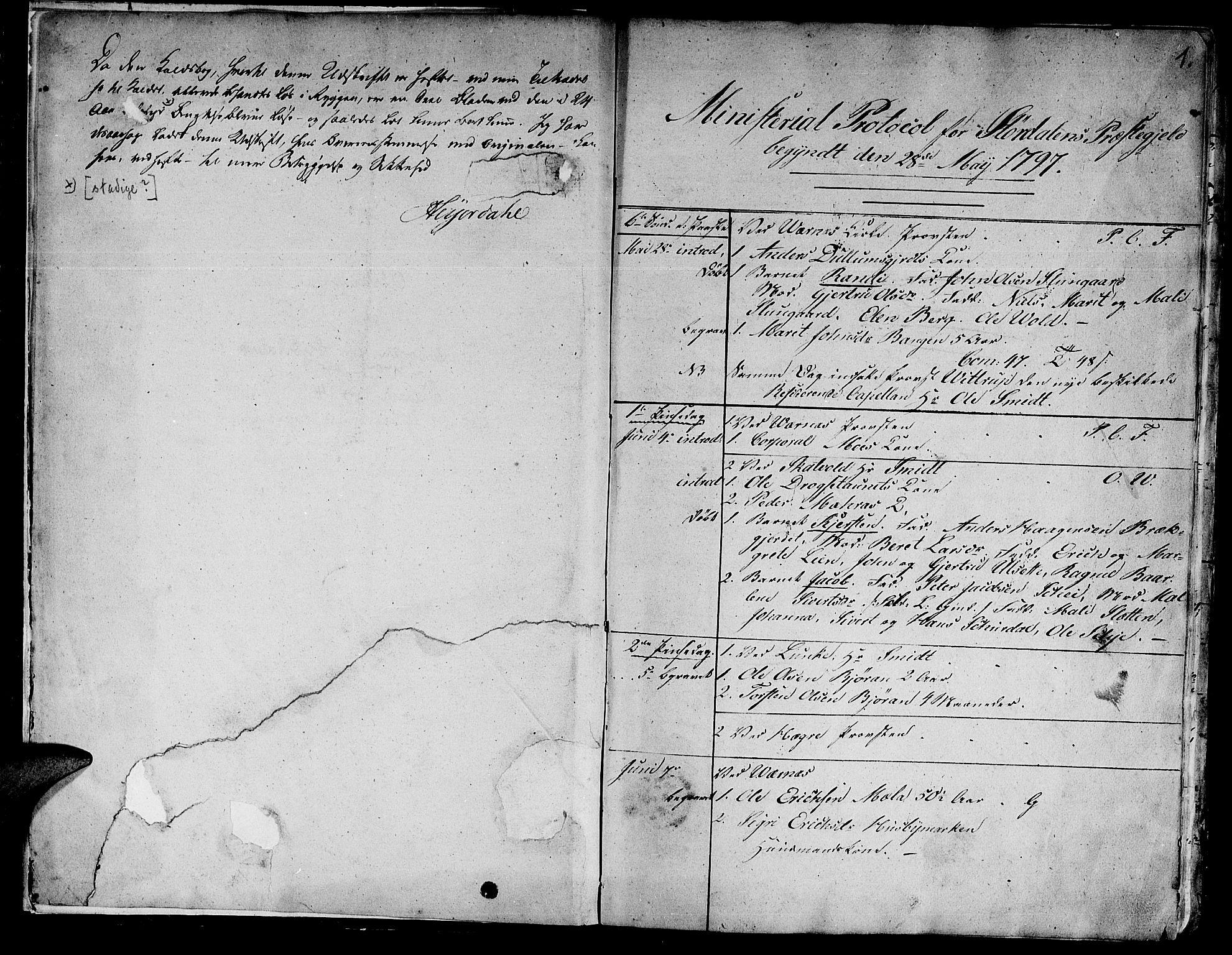 SAT, Ministerialprotokoller, klokkerbøker og fødselsregistre - Nord-Trøndelag, 709/L0060: Ministerialbok nr. 709A07, 1797-1815, s. 0-1