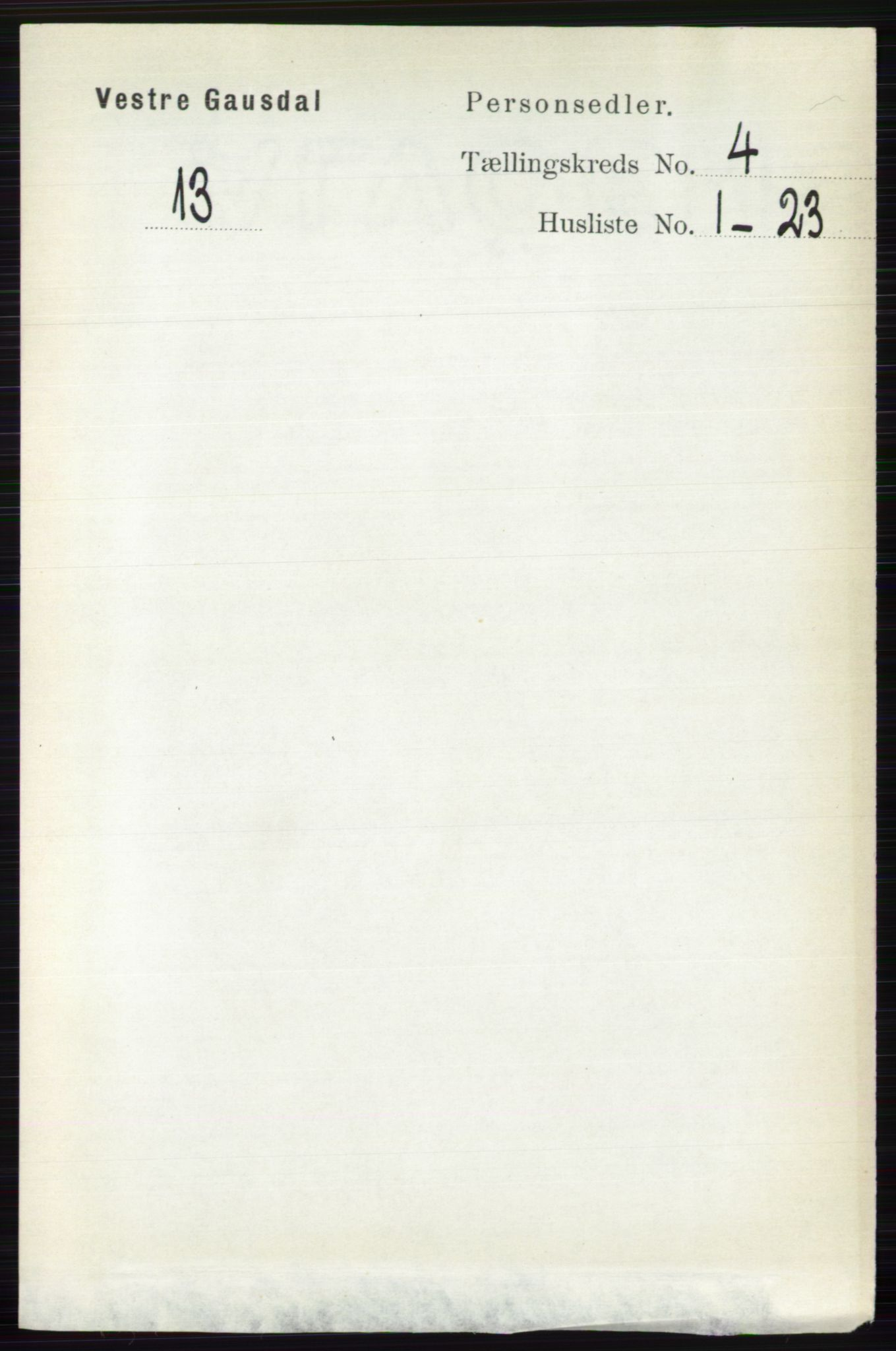RA, Folketelling 1891 for 0523 Vestre Gausdal herred, 1891, s. 1710