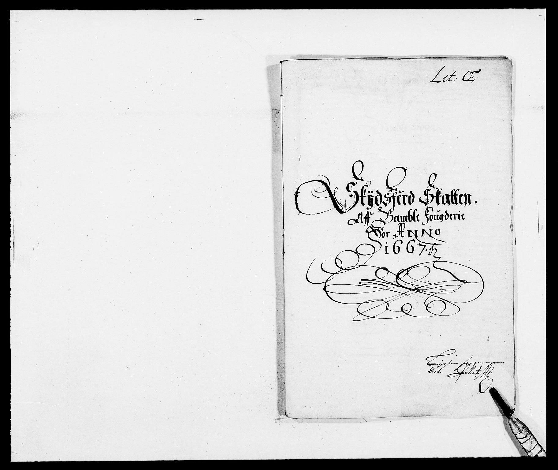 RA, Rentekammeret inntil 1814, Reviderte regnskaper, Fogderegnskap, R34/L2039: Fogderegnskap Bamble, 1662-1669, s. 212
