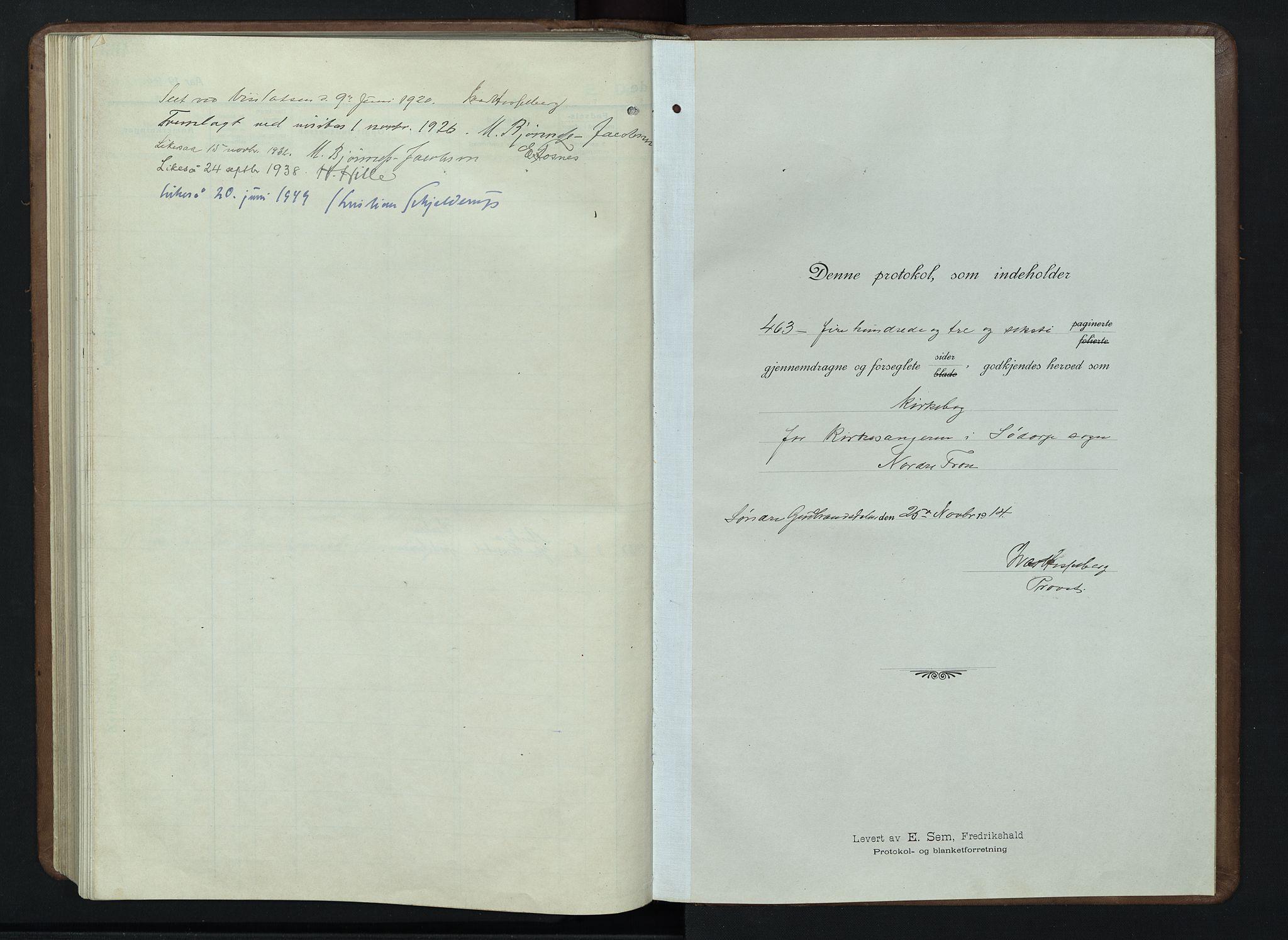 SAH, Nord-Fron prestekontor, Klokkerbok nr. 7, 1915-1946