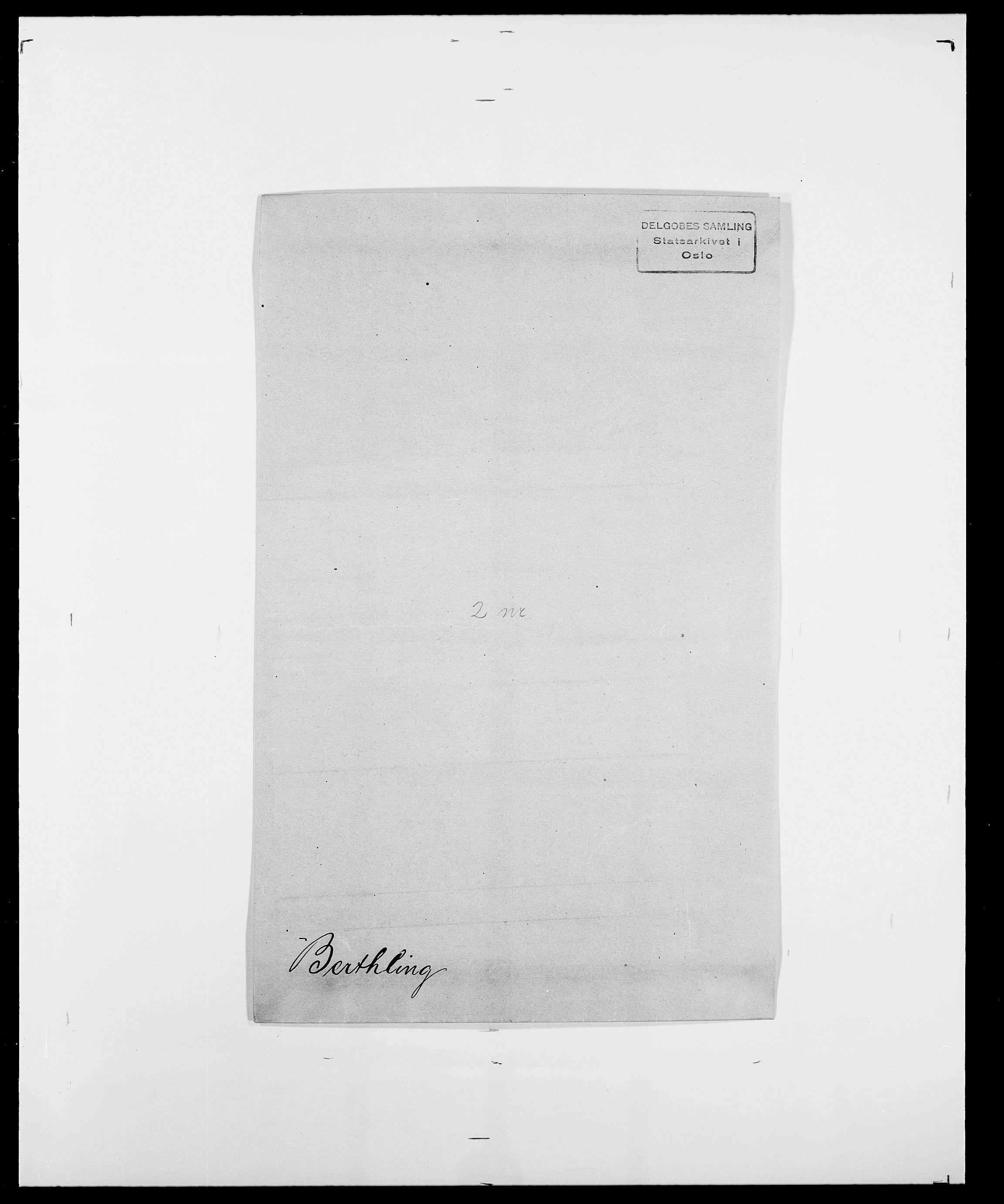 SAO, Delgobe, Charles Antoine - samling, D/Da/L0004: Bergendahl - Blære, s. 123